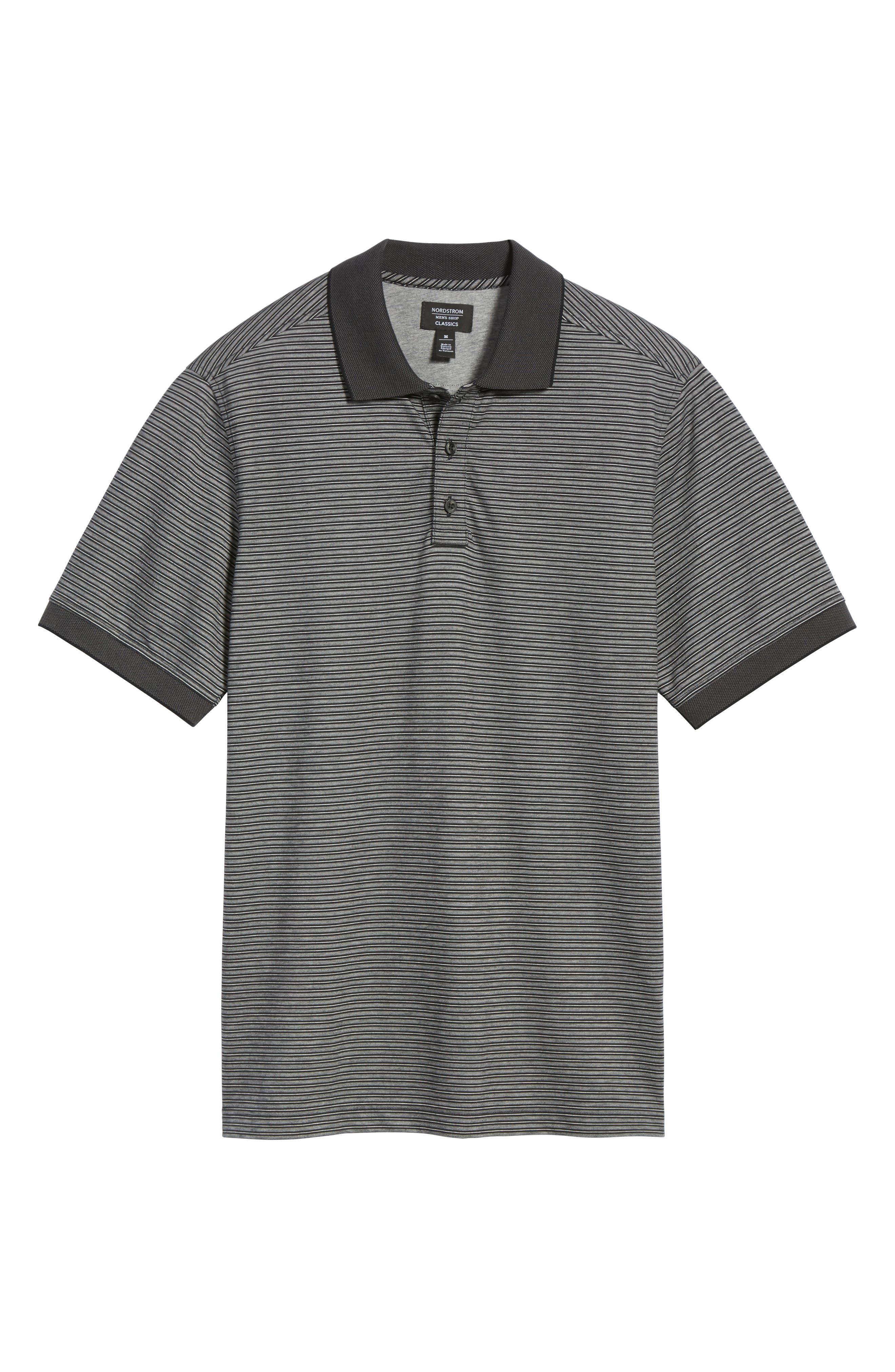 Regular Fit Performance Stripe Polo,                             Alternate thumbnail 6, color,                             030