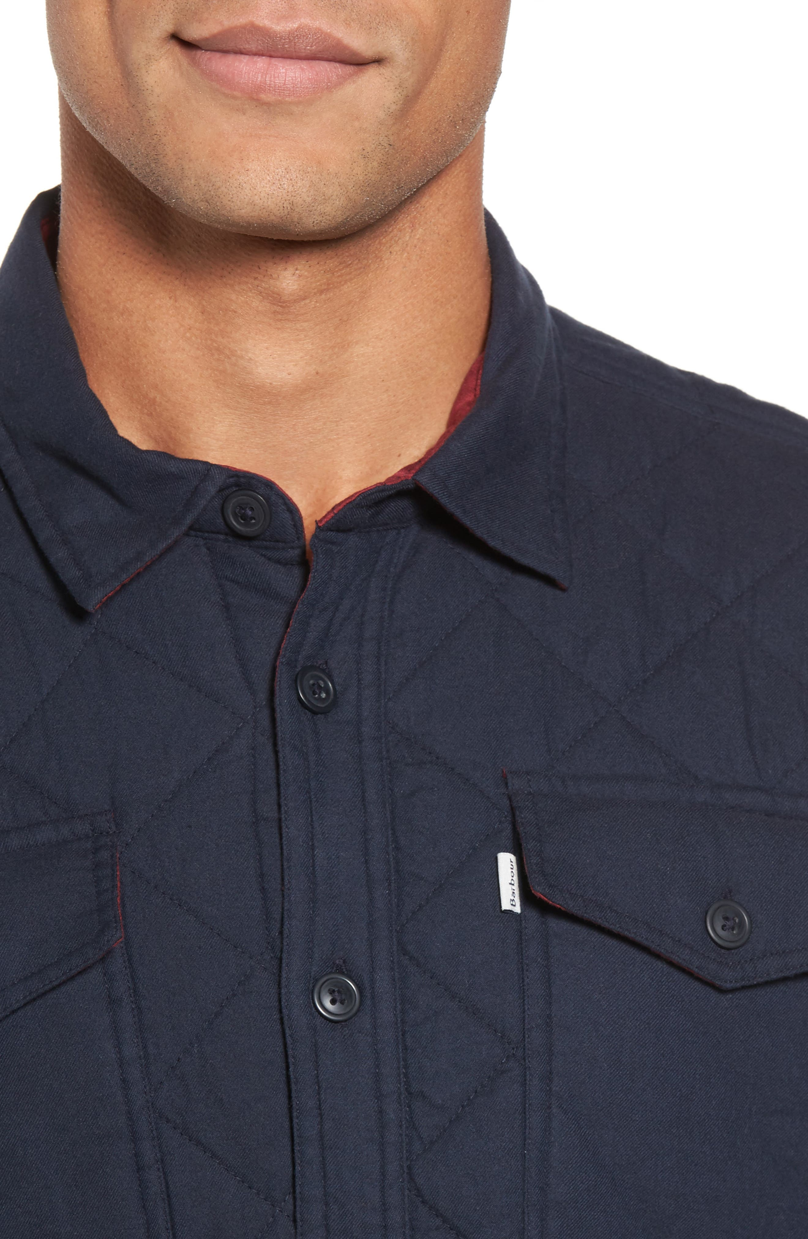Quilted Shirt Jacket,                             Alternate thumbnail 4, color,                             410
