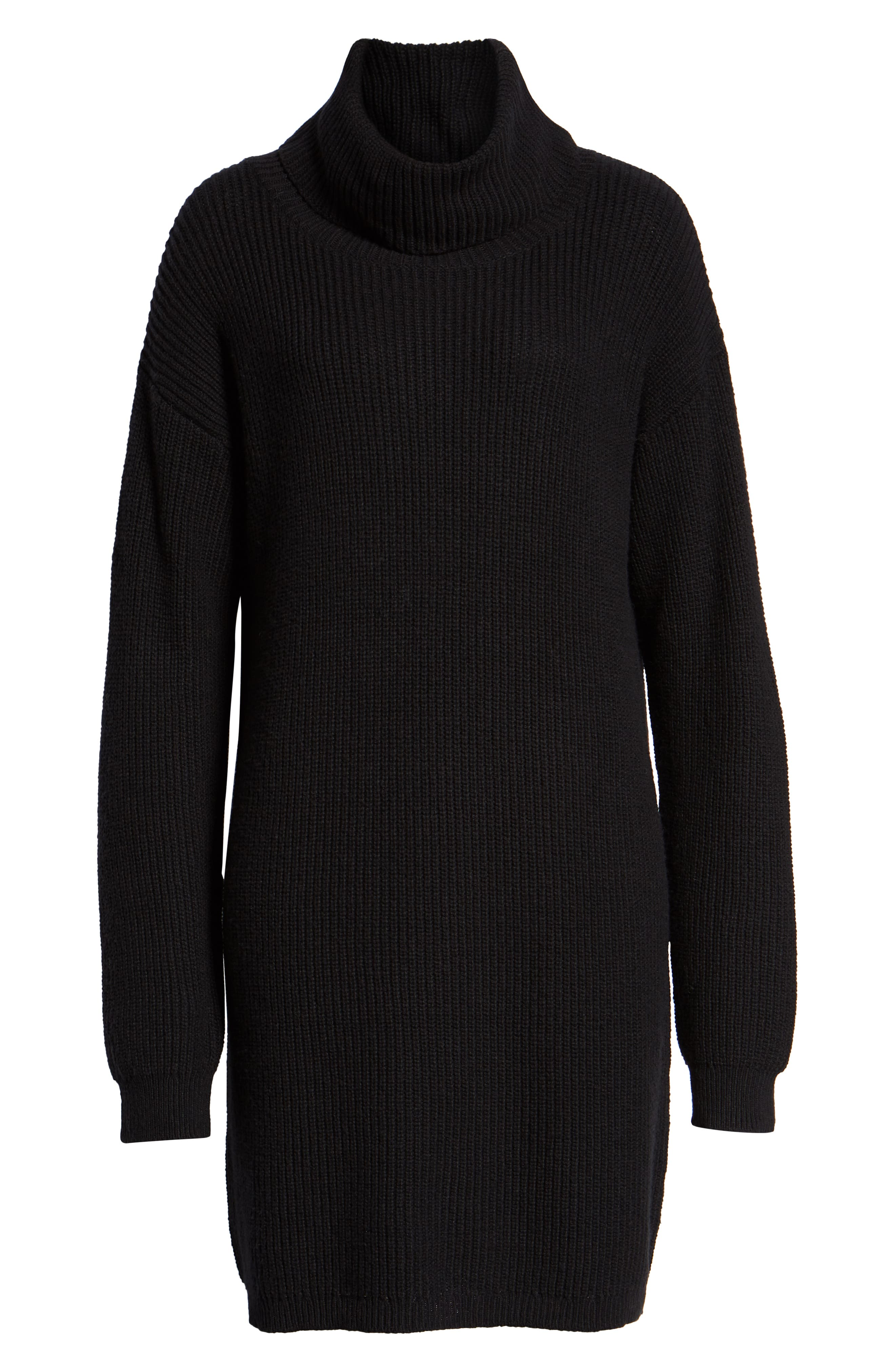 BP.,                             Cowl Neck Sweater Dress,                             Alternate thumbnail 7, color,                             001