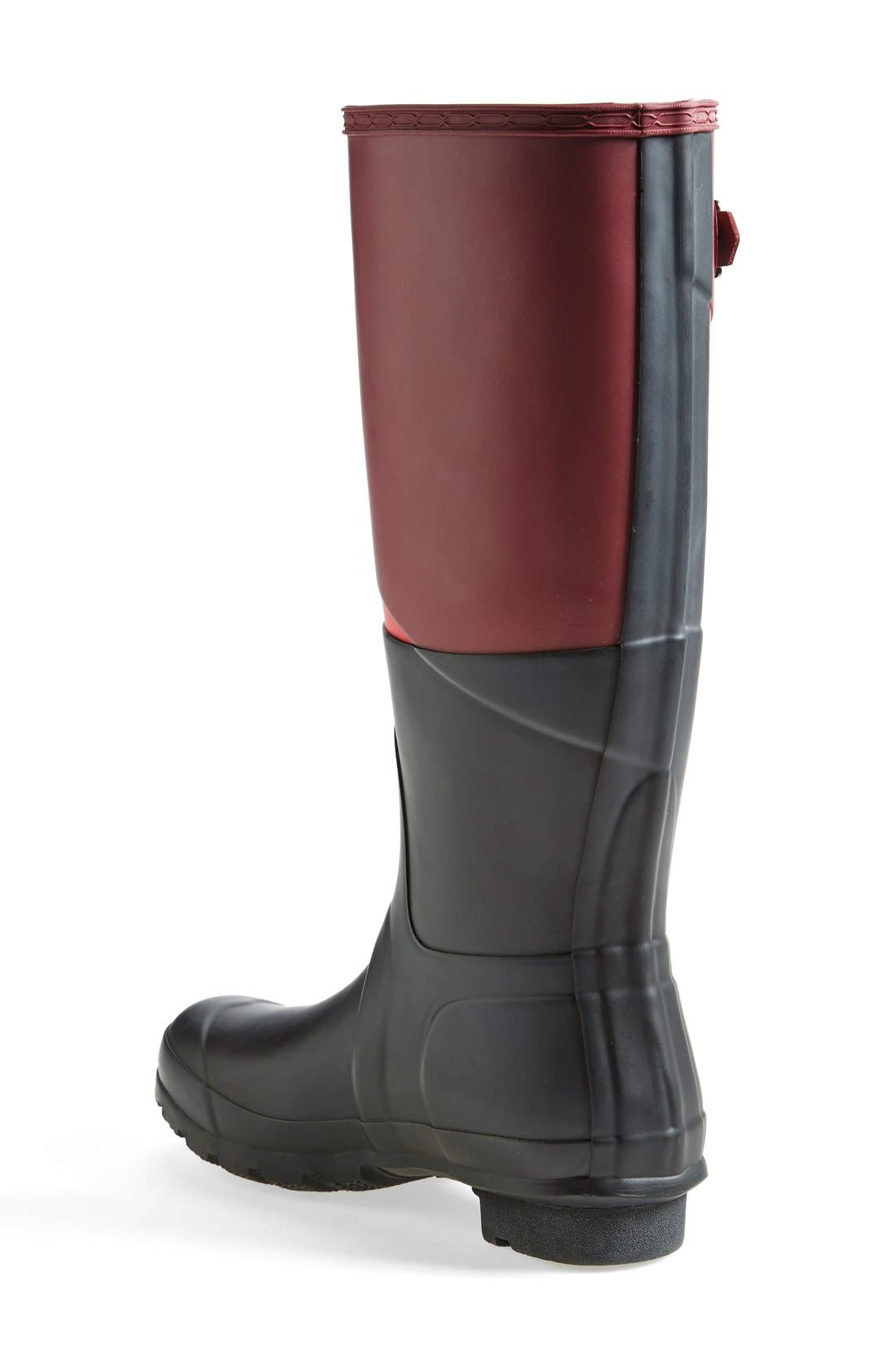 'Original - Asymmetric Colorblock' Waterproof Rain Boot,                             Alternate thumbnail 4, color,