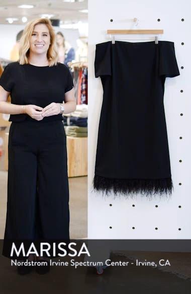 Feather Trim Sheath Dress, sales video thumbnail