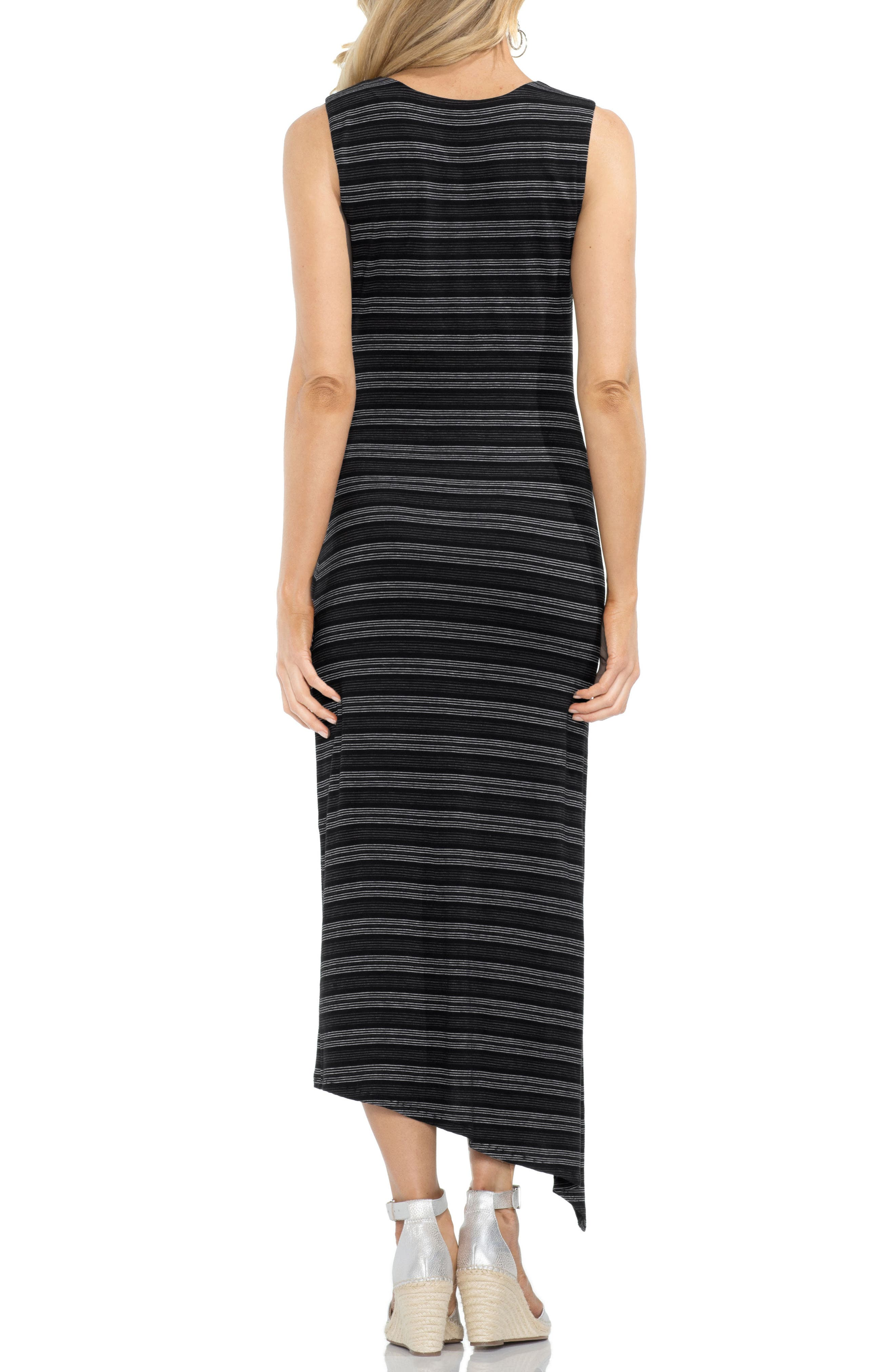 Twist Front Striped Tank Dress,                             Alternate thumbnail 2, color,