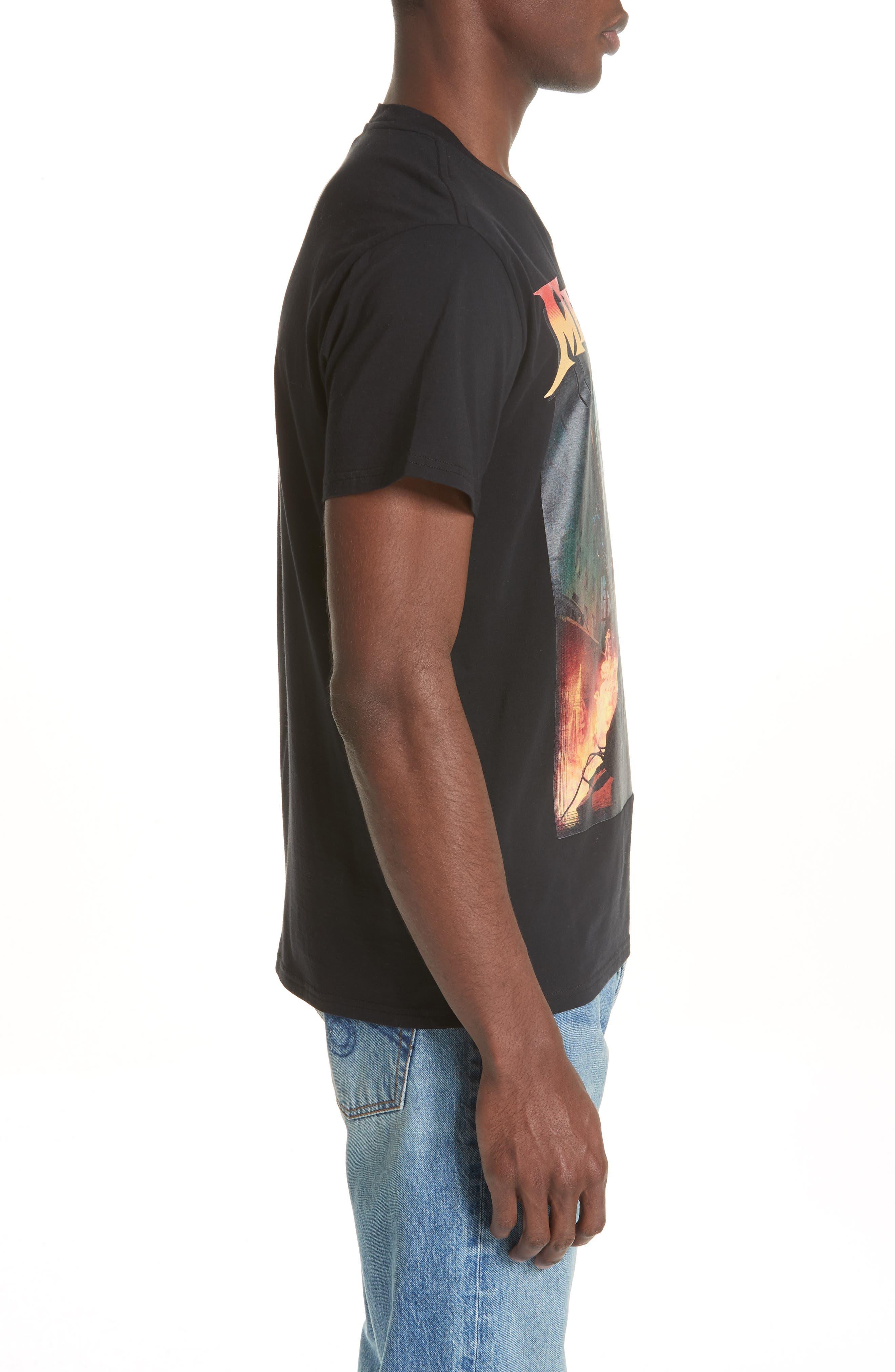 Megadeth Graphic Oversize T-Shirt,                             Alternate thumbnail 3, color,                             001