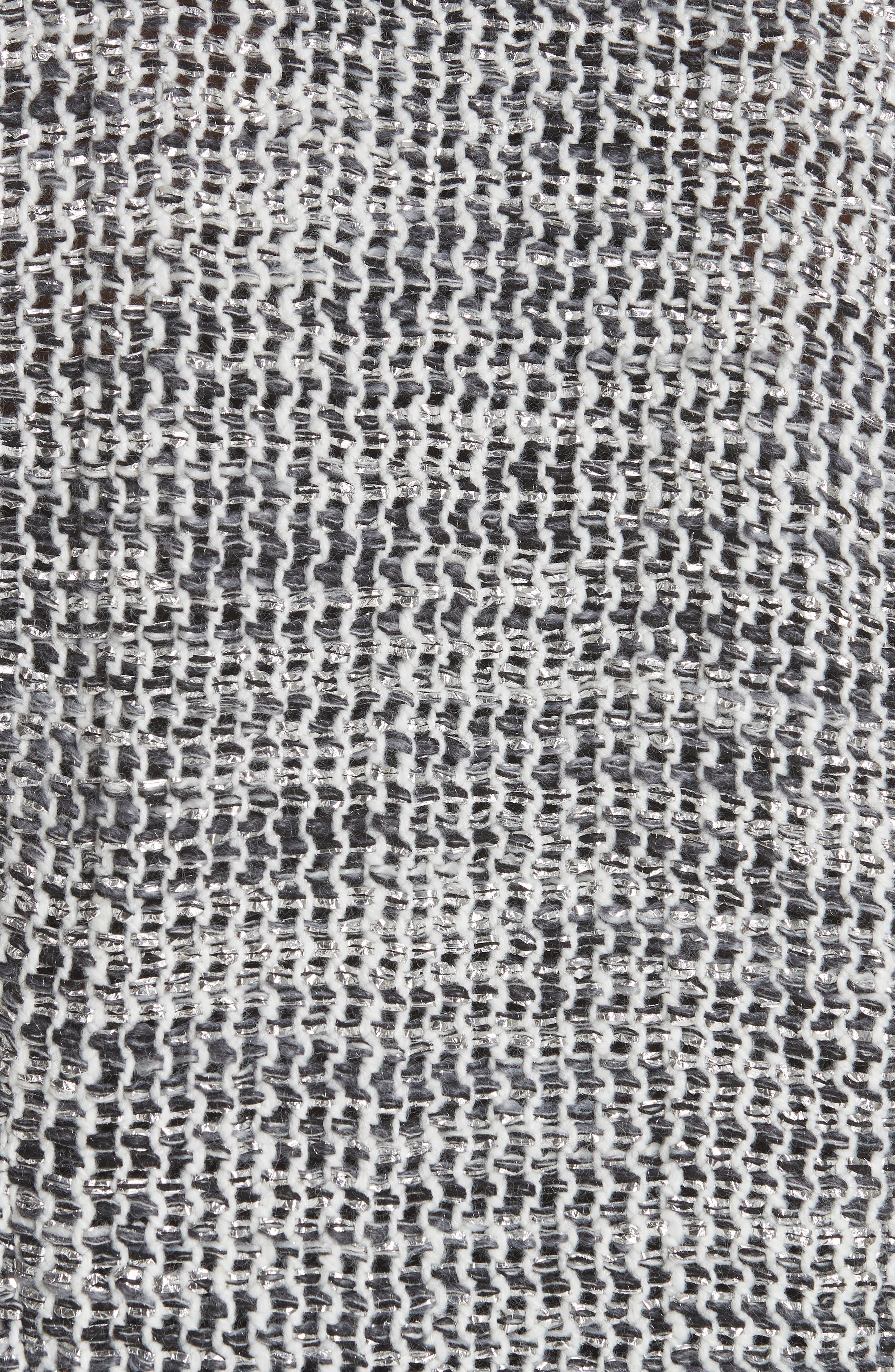 Unplug Metallic Tweed Jacket,                             Alternate thumbnail 6, color,                             GREY