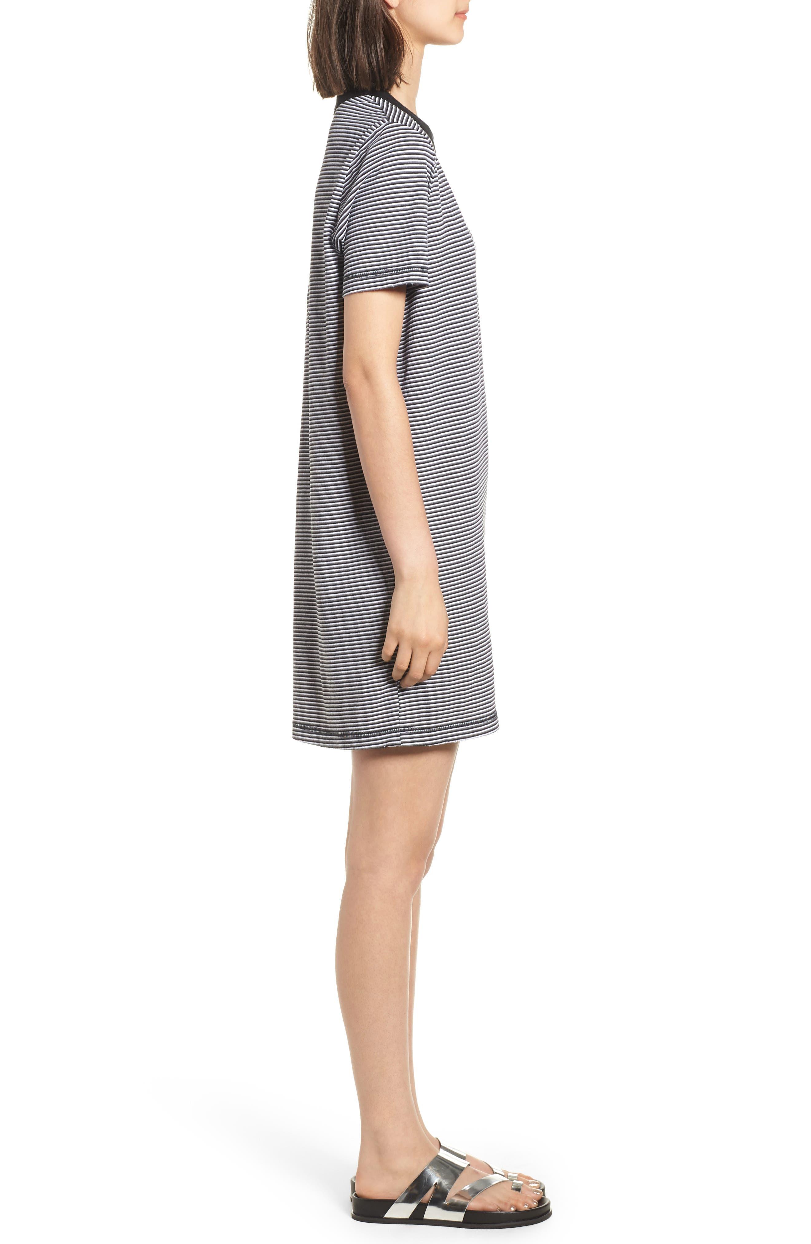 Azul Ringer Stripe T-Shirt Dress,                             Alternate thumbnail 3, color,                             400