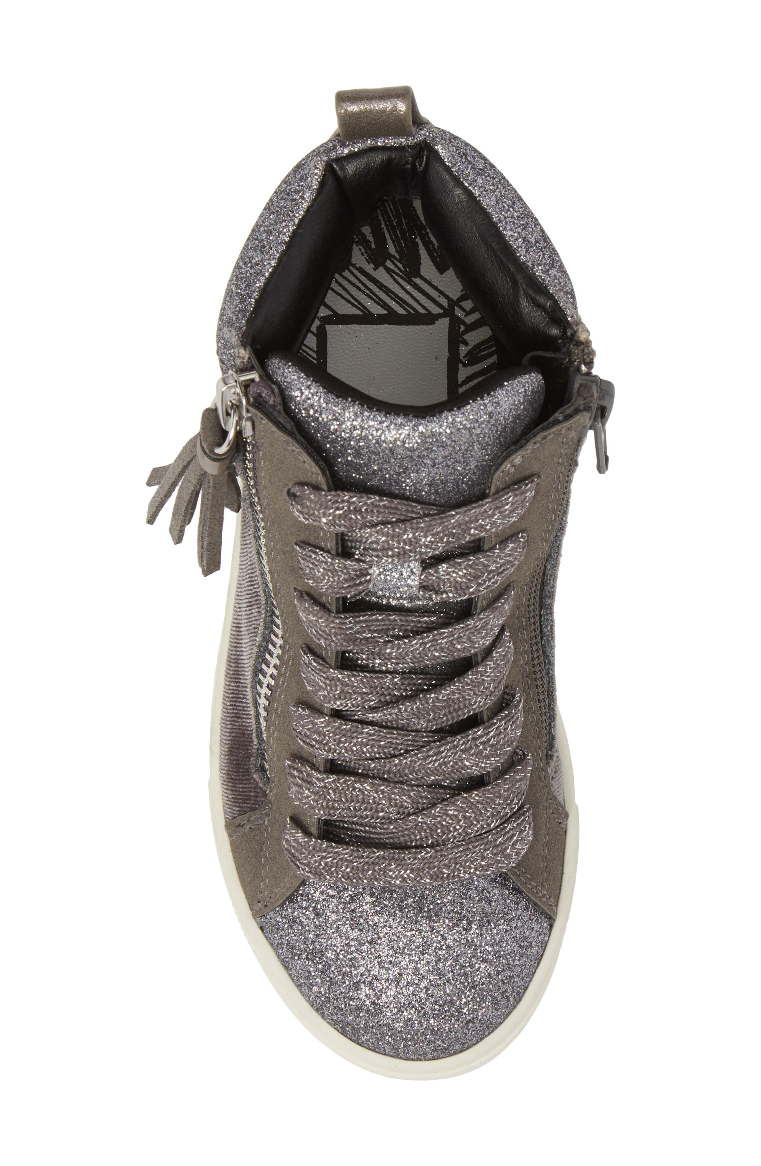 DOLCE VITA,                             Zaila Glitter High Top Sneaker,                             Alternate thumbnail 5, color,                             034