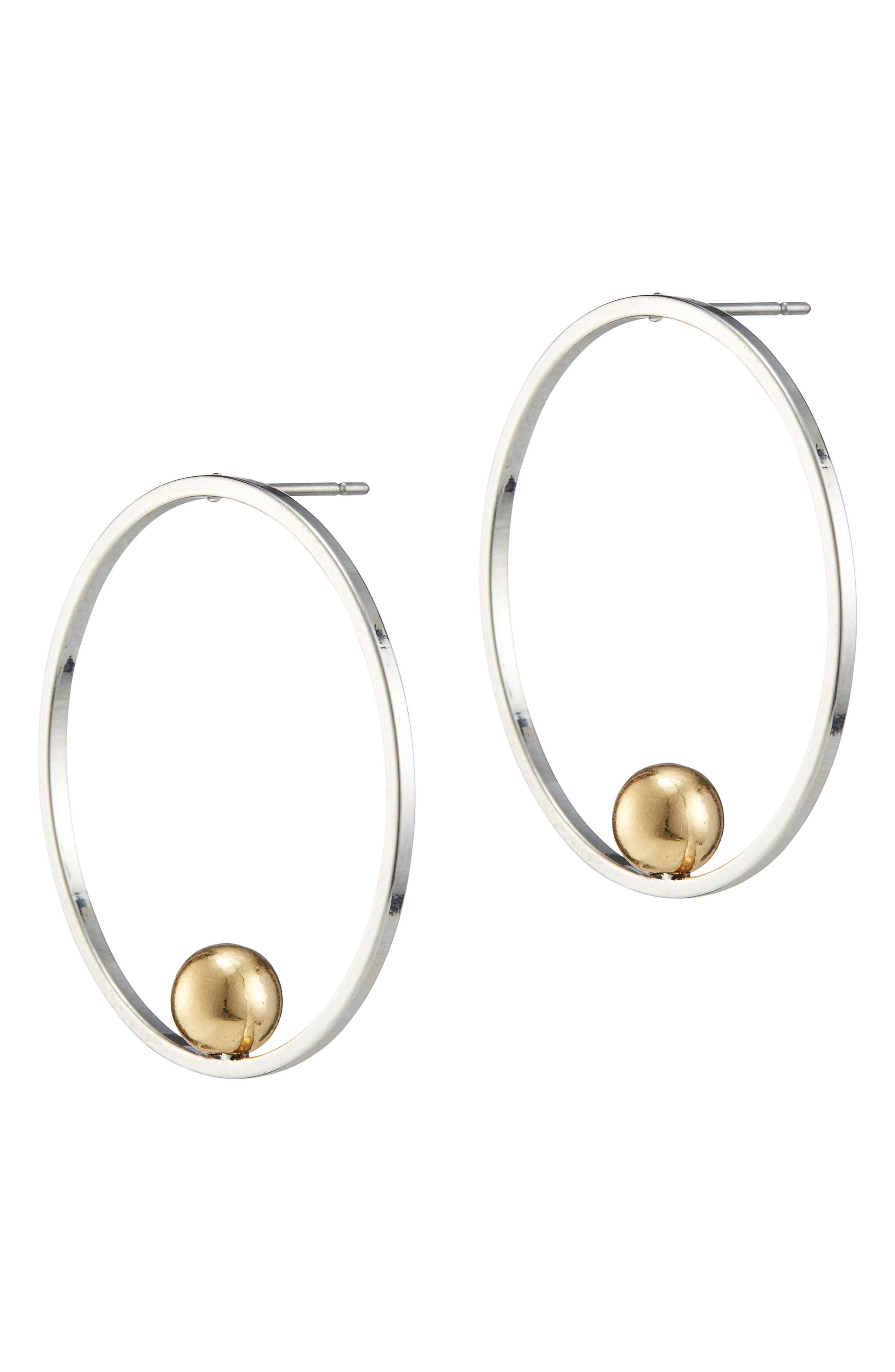 Saros Hoop Earrings,                             Main thumbnail 1, color,                             040