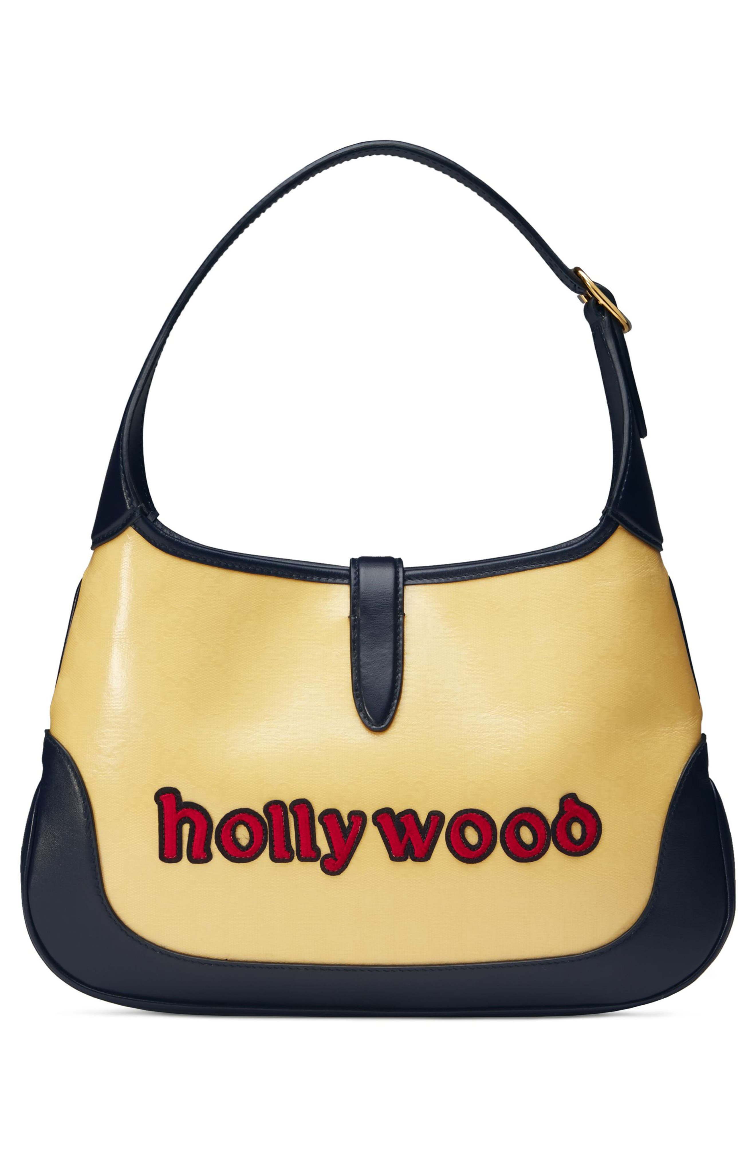 Medium Jackie Chateau Marmont GG Hobo,                             Alternate thumbnail 2, color,                             STRAW YELLOW/ BLU/ RED