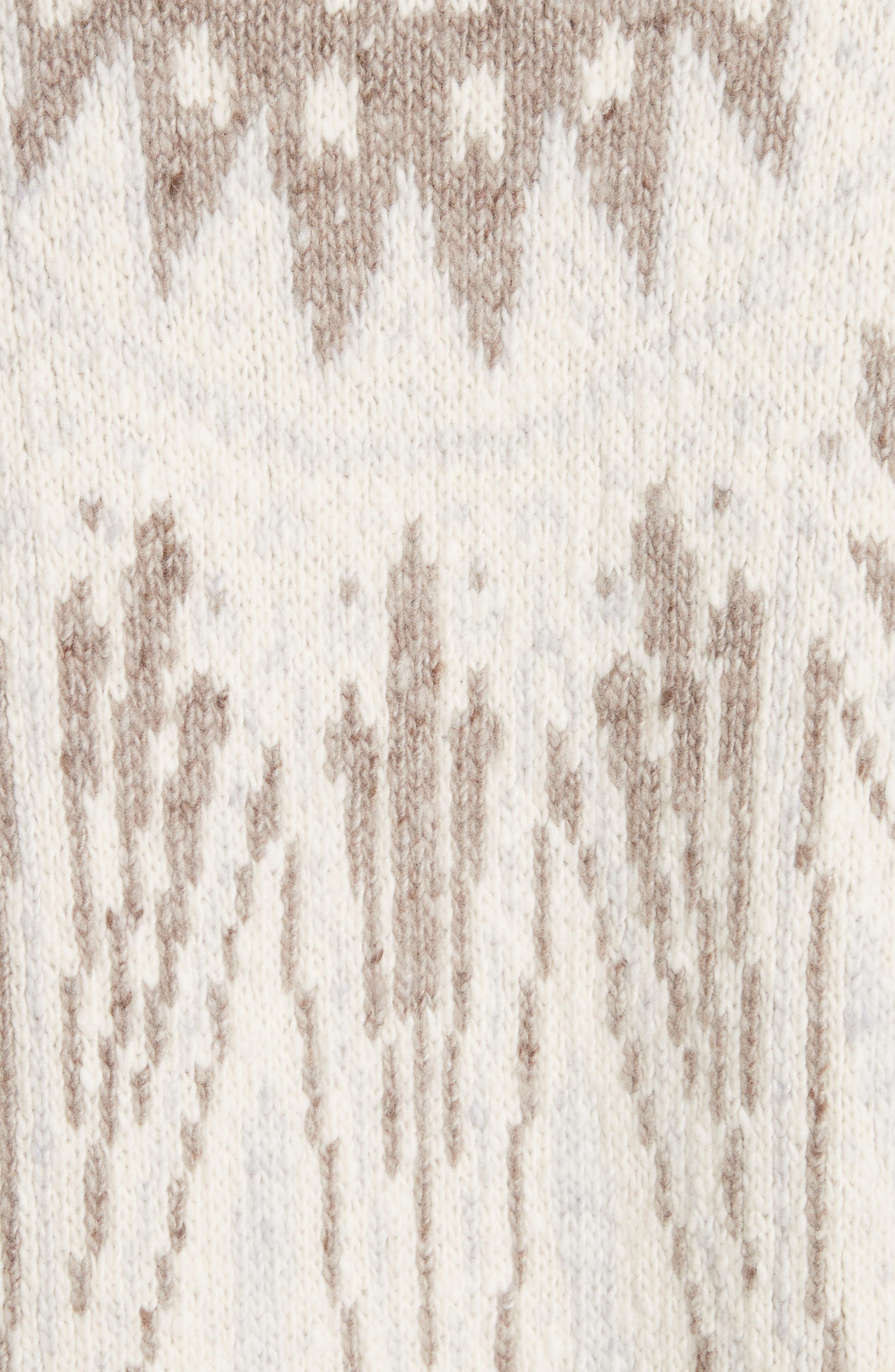 Marled Merino Wool & Cashmere Fair Isle Sweater,                             Alternate thumbnail 5, color,                             900