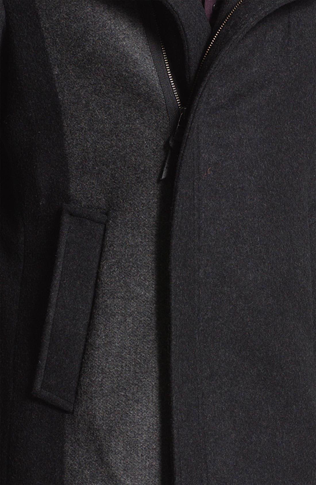 Funnel Neck Top Coat,                             Alternate thumbnail 3, color,                             015