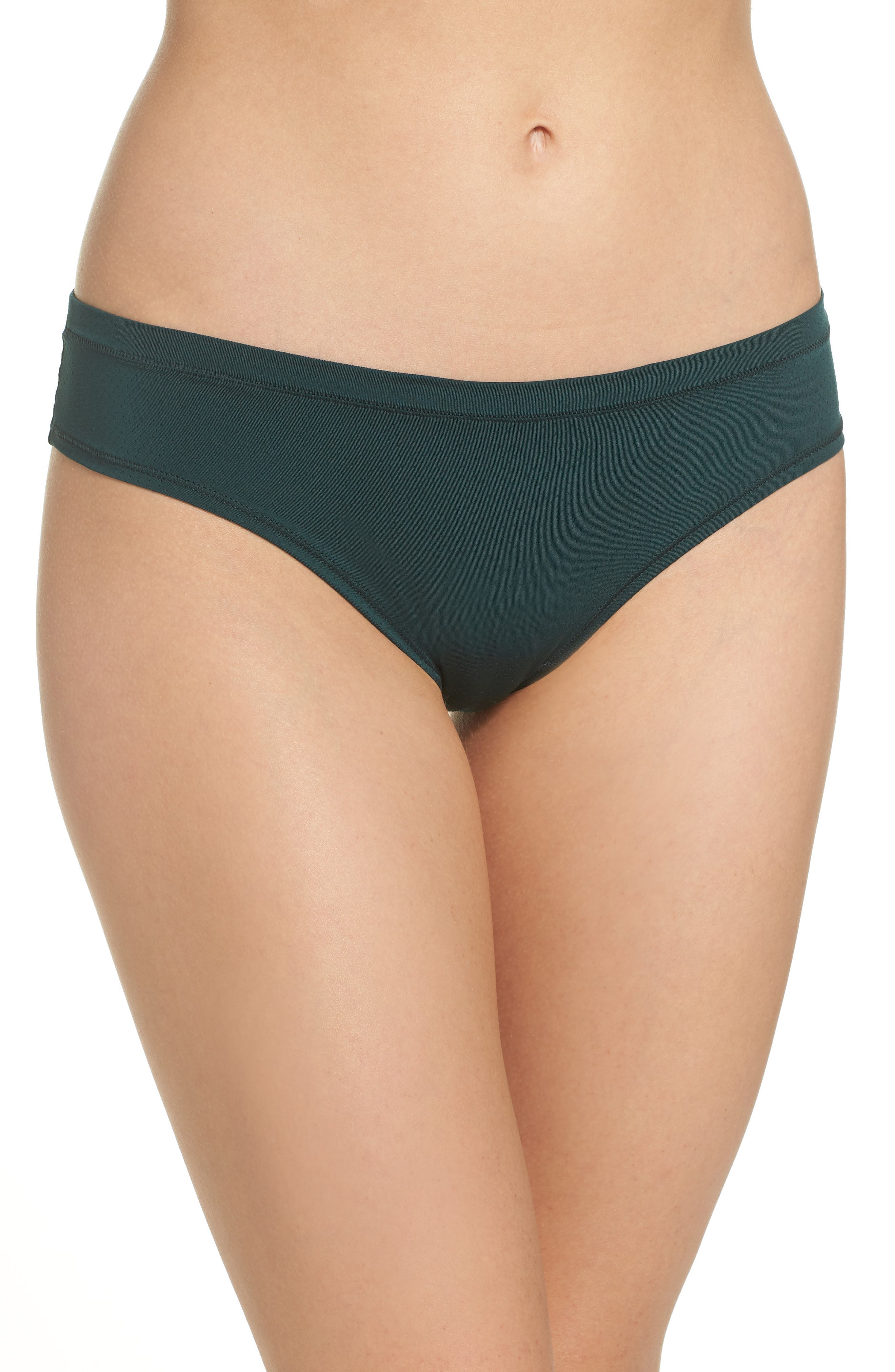 Perforated Active Thong,                             Main thumbnail 1, color,                             GREEN PONDEROSA