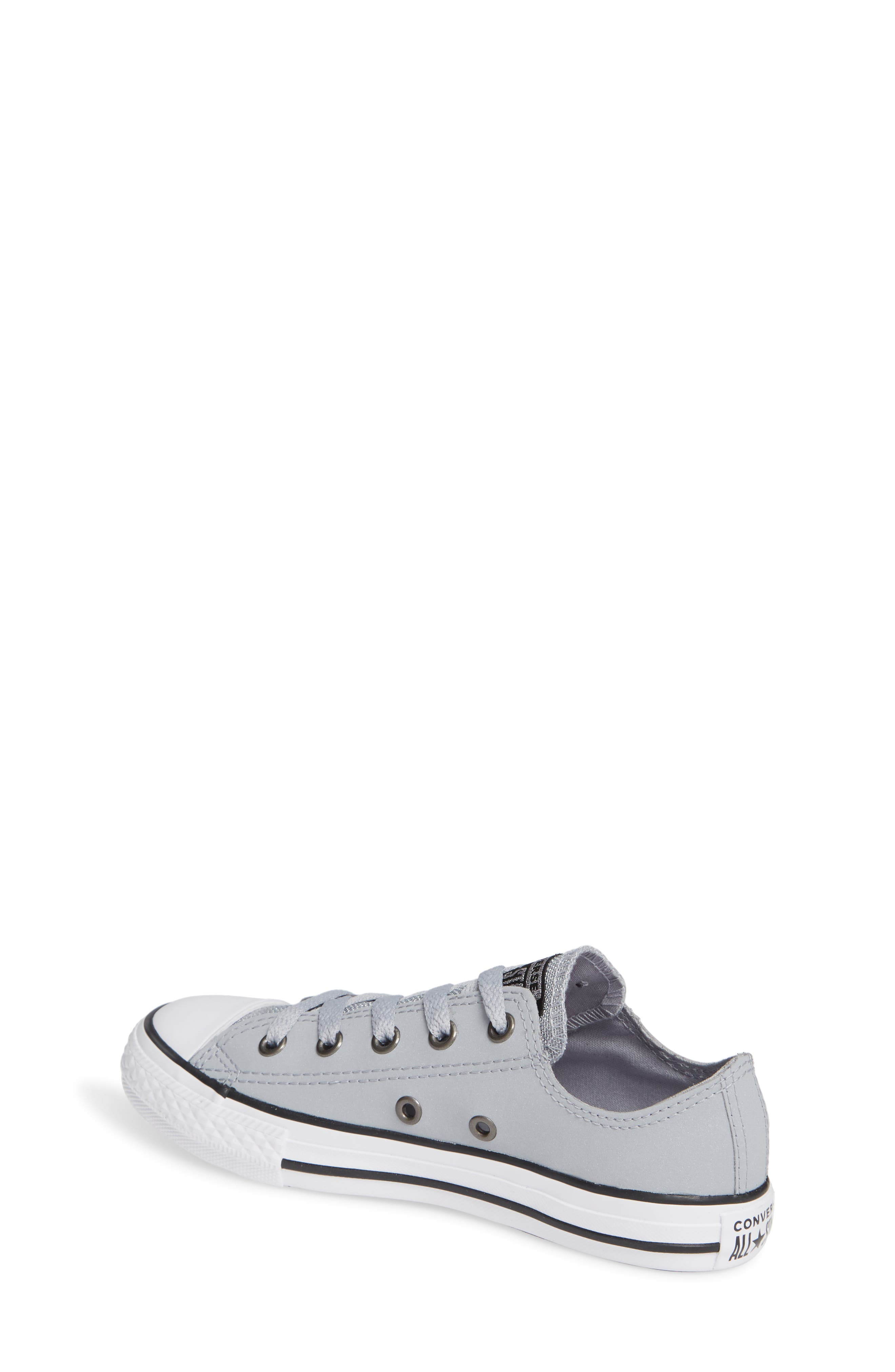 All Star<sup>®</sup> Metallic Low Top Sneaker,                             Alternate thumbnail 2, color,                             WOLF GREY