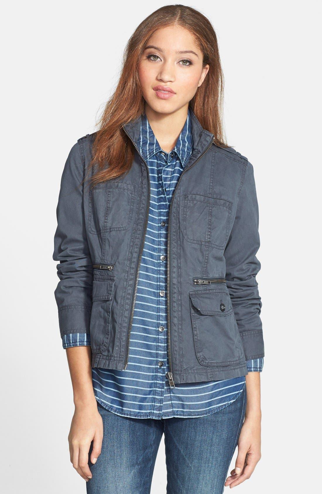 Front Zip Field Jacket,                         Main,                         color, 021