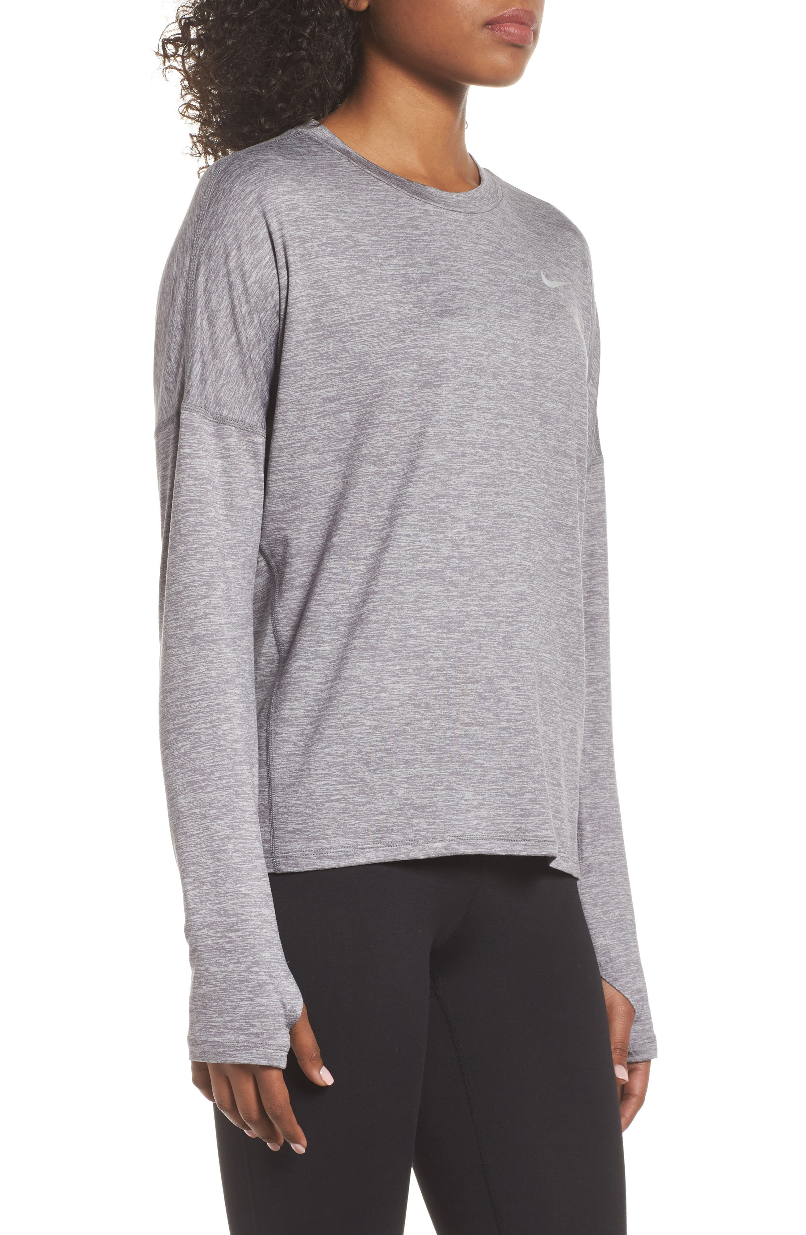 NIKE,                             Dry Element Long Sleeve Top,                             Alternate thumbnail 3, color,                             036