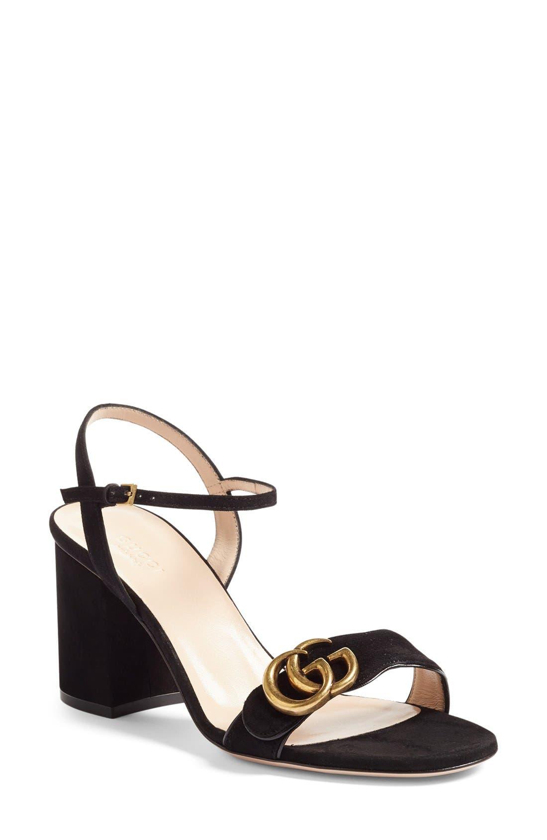 GG Marmont Sandal,                         Main,                         color, 001