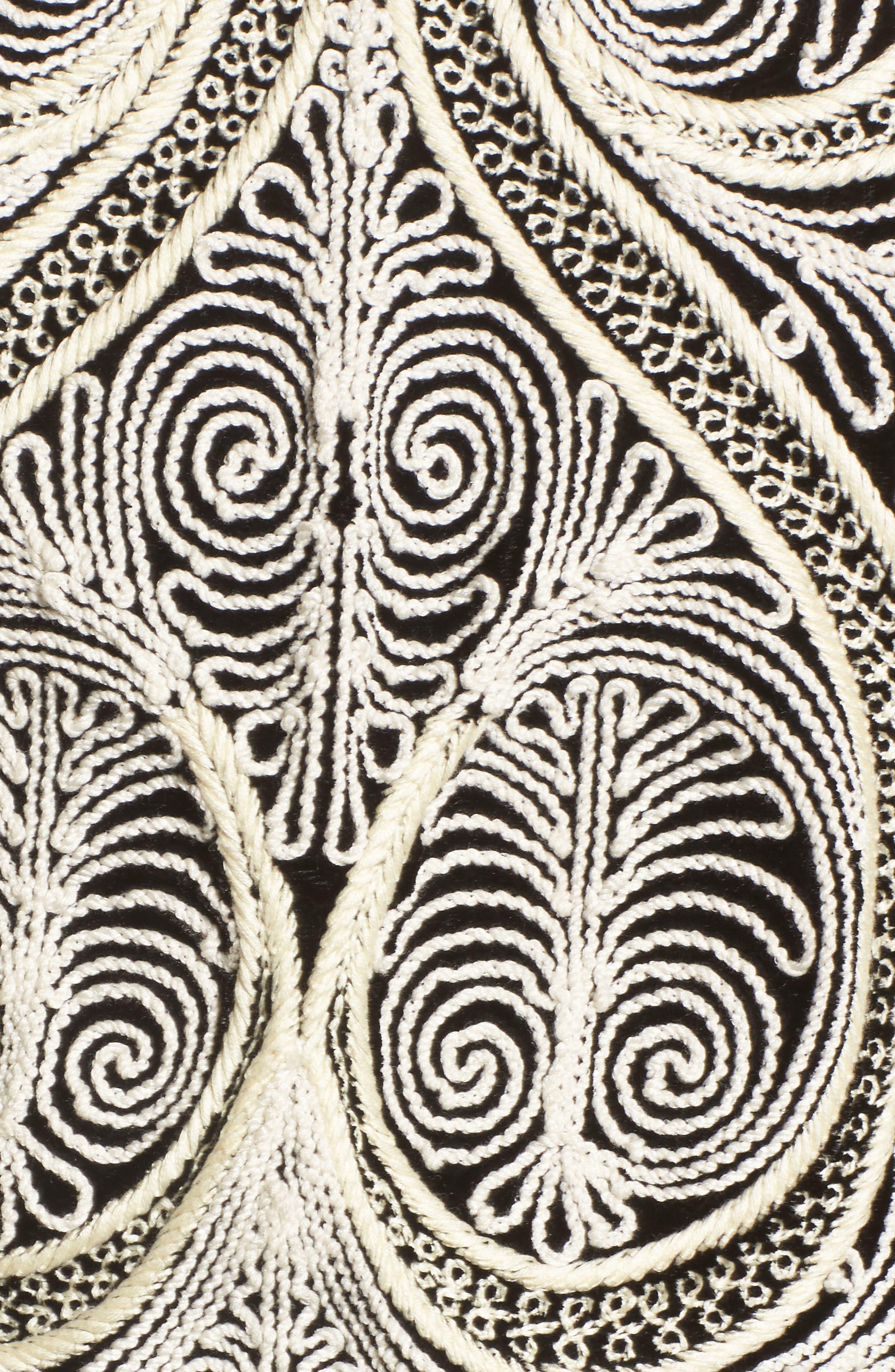 Embroidered Velvet Jacket,                             Alternate thumbnail 6, color,                             001