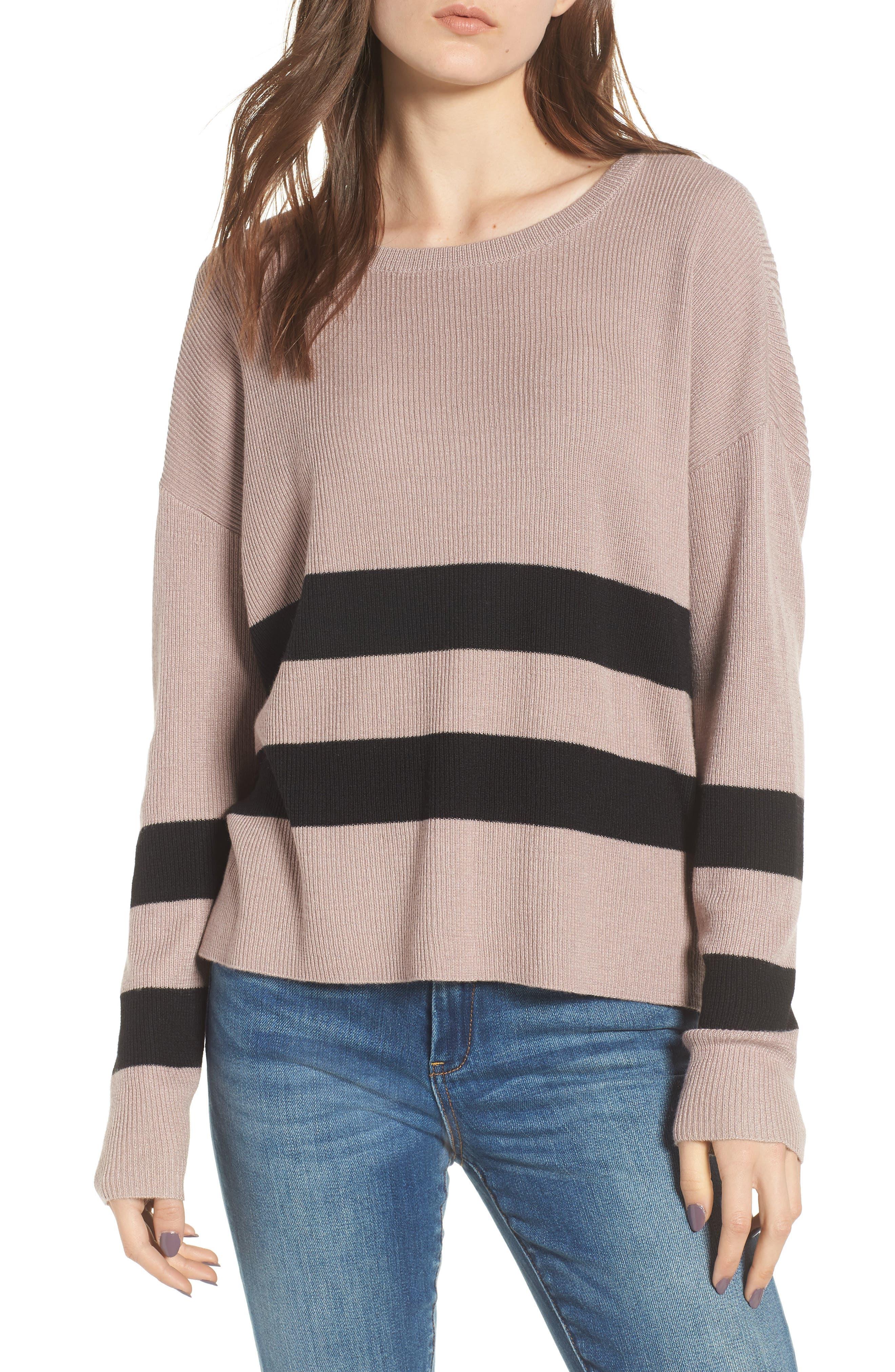 Varsity Stripe Sweater,                             Main thumbnail 1, color,                             030