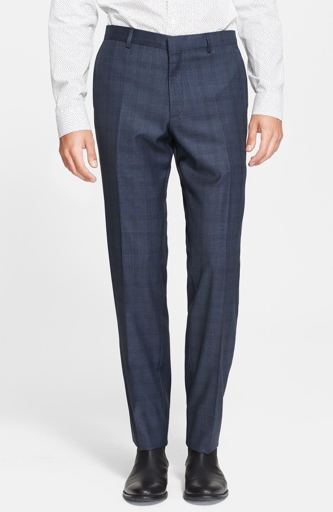 'Byard' Trim Fit Plaid Suit,                             Alternate thumbnail 6, color,                             414