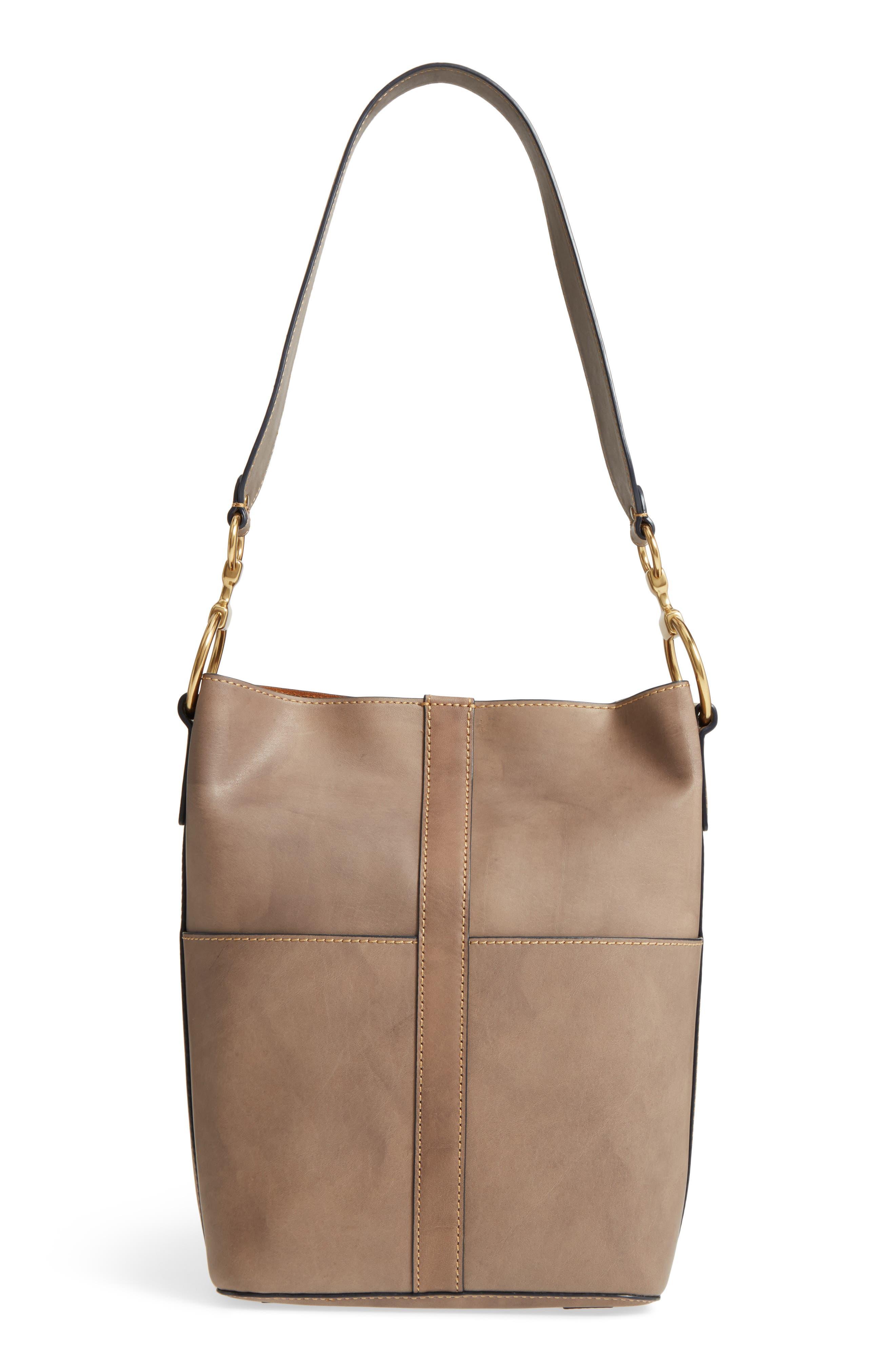 Ilana Leather Bucket Bag,                             Main thumbnail 1, color,                             030