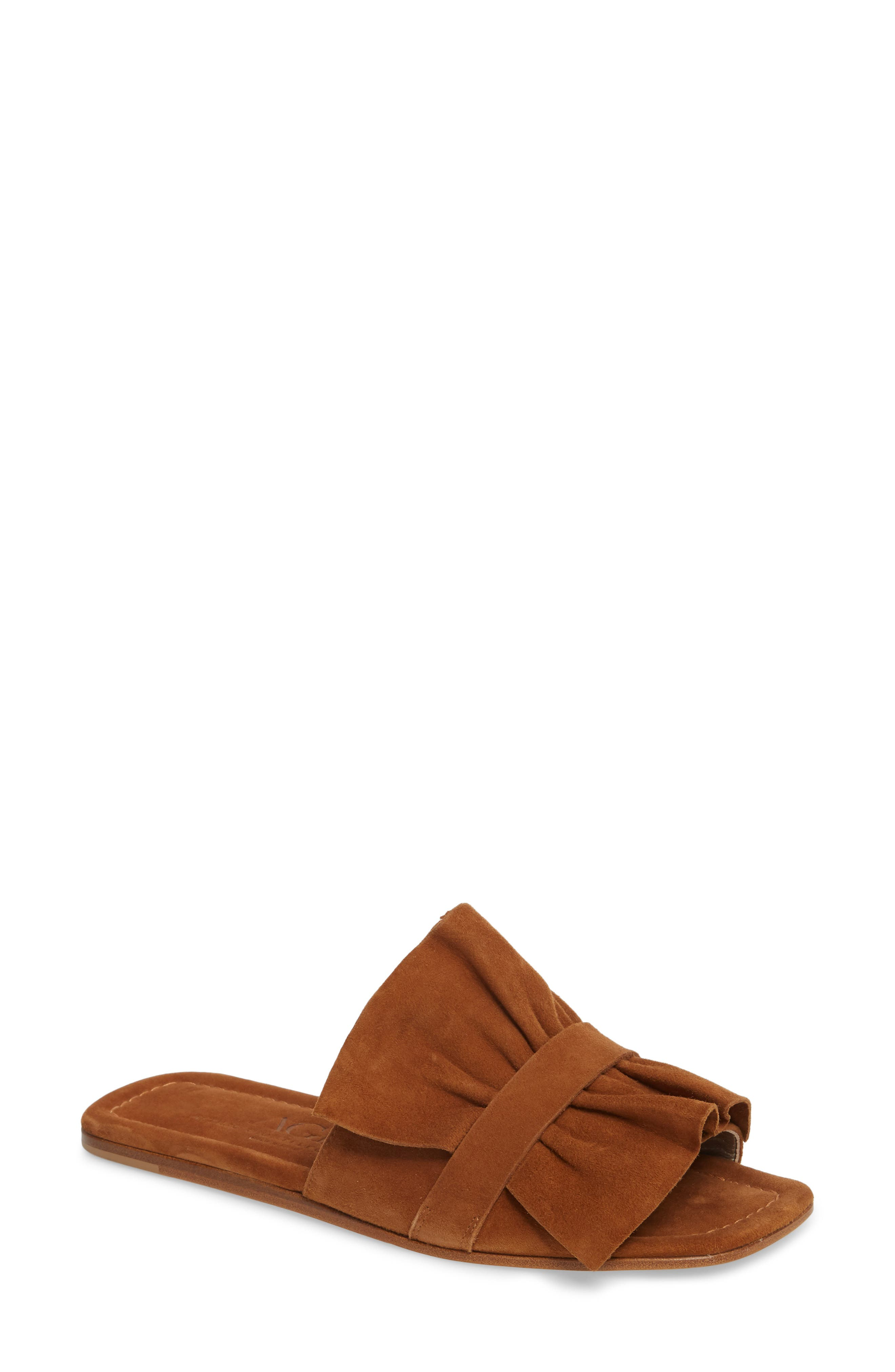 Ruched Slide Sandal,                             Main thumbnail 1, color,                             245