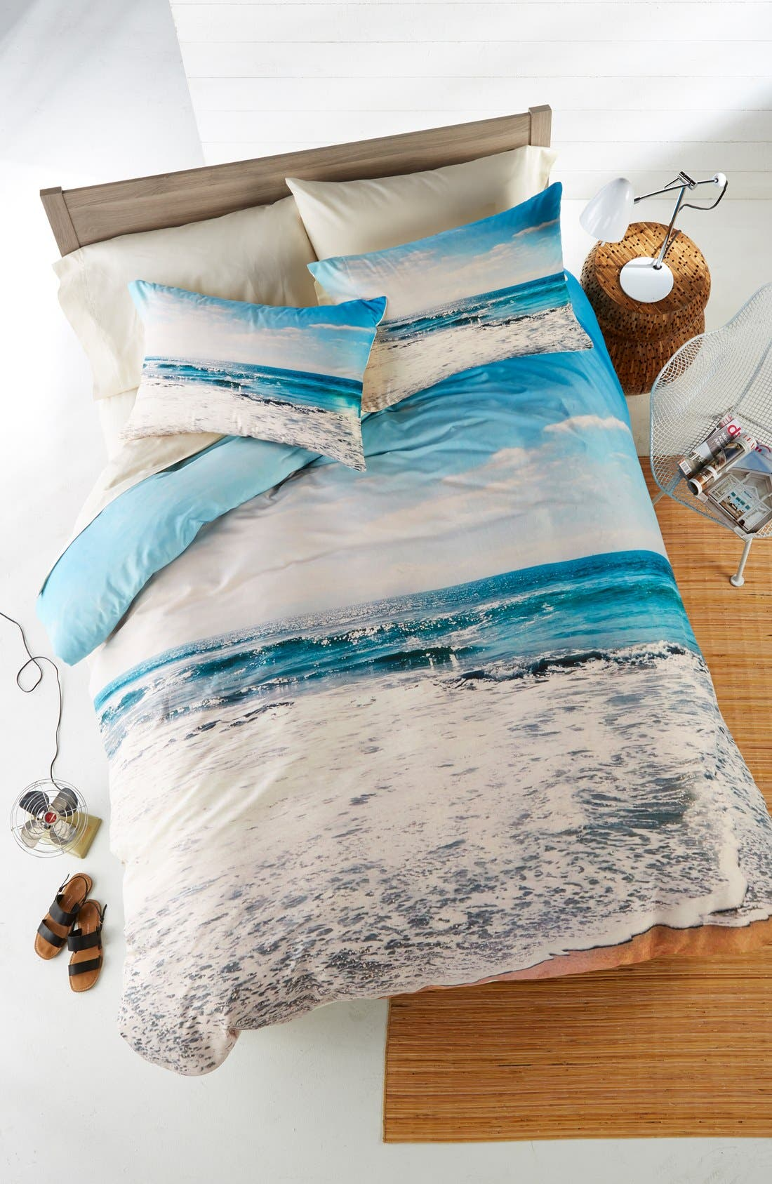 Take Me There Duvet Cover & Sham Set,                             Main thumbnail 1, color,                             400