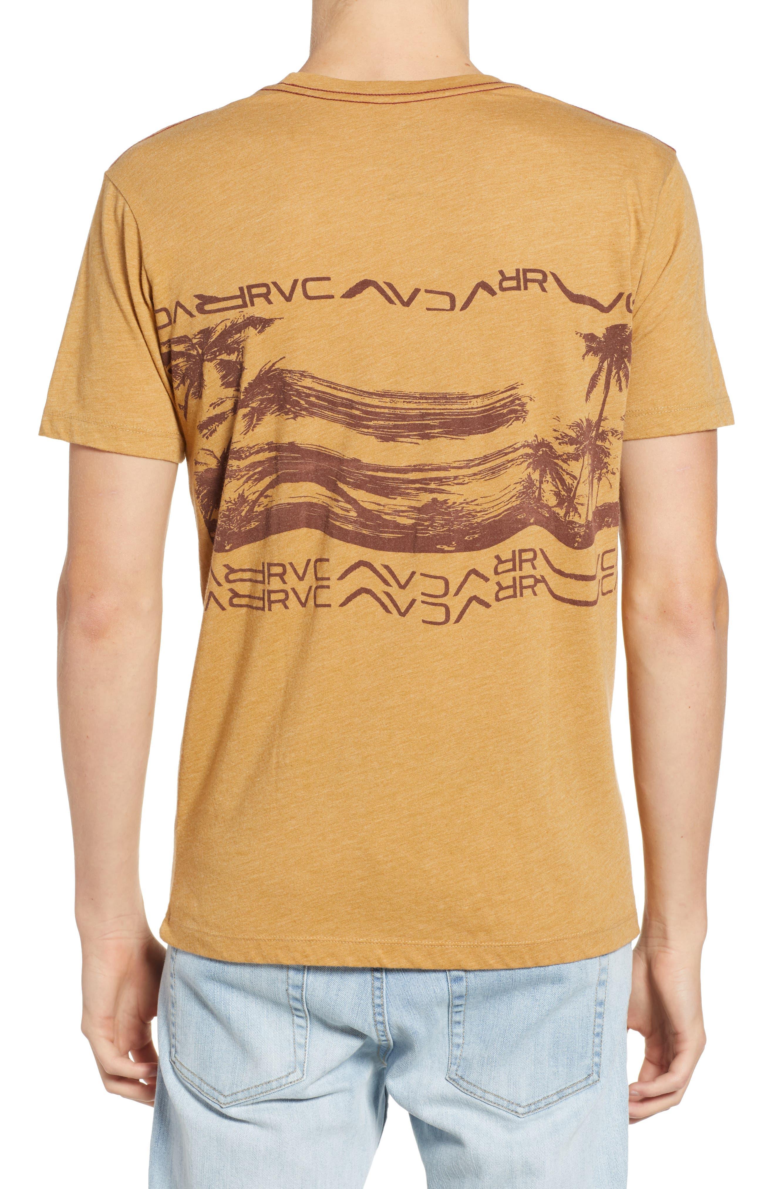 Warped Palm Graphic T-Shirt,                             Alternate thumbnail 2, color,                             APPLE CINNAMON