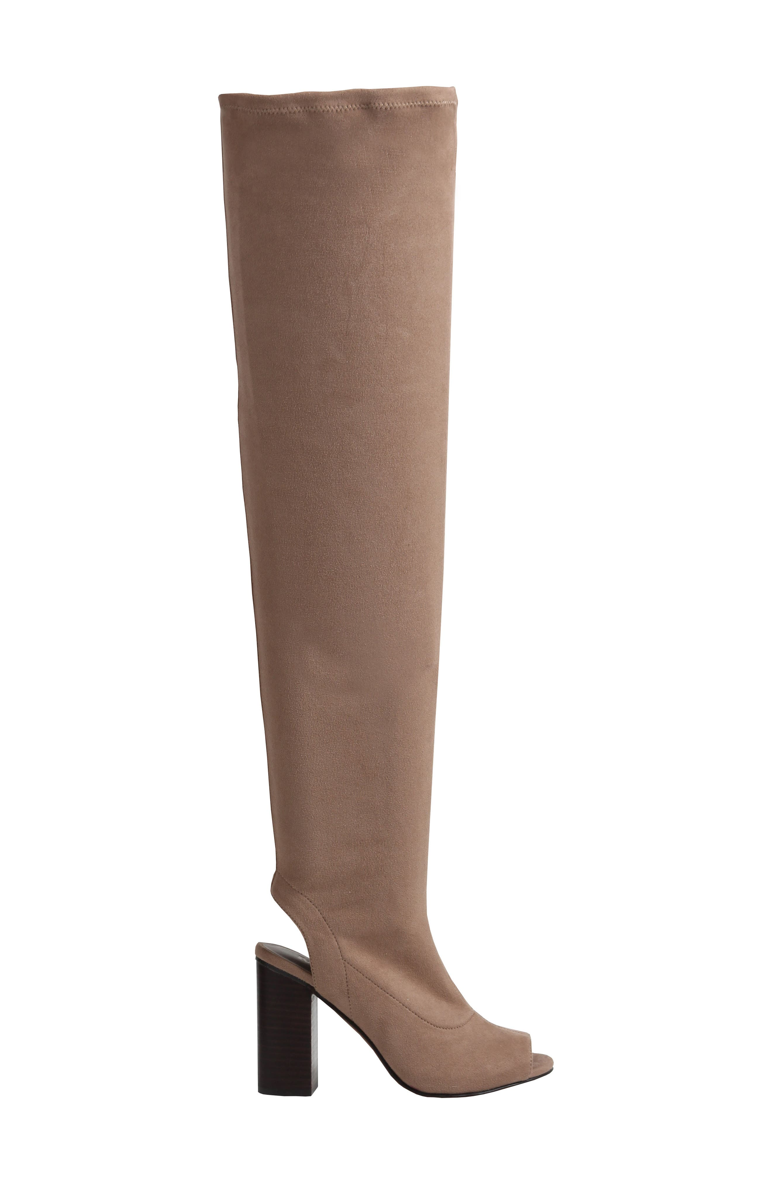 Robyn Cutout Over the Knee Boot,                             Alternate thumbnail 6, color,