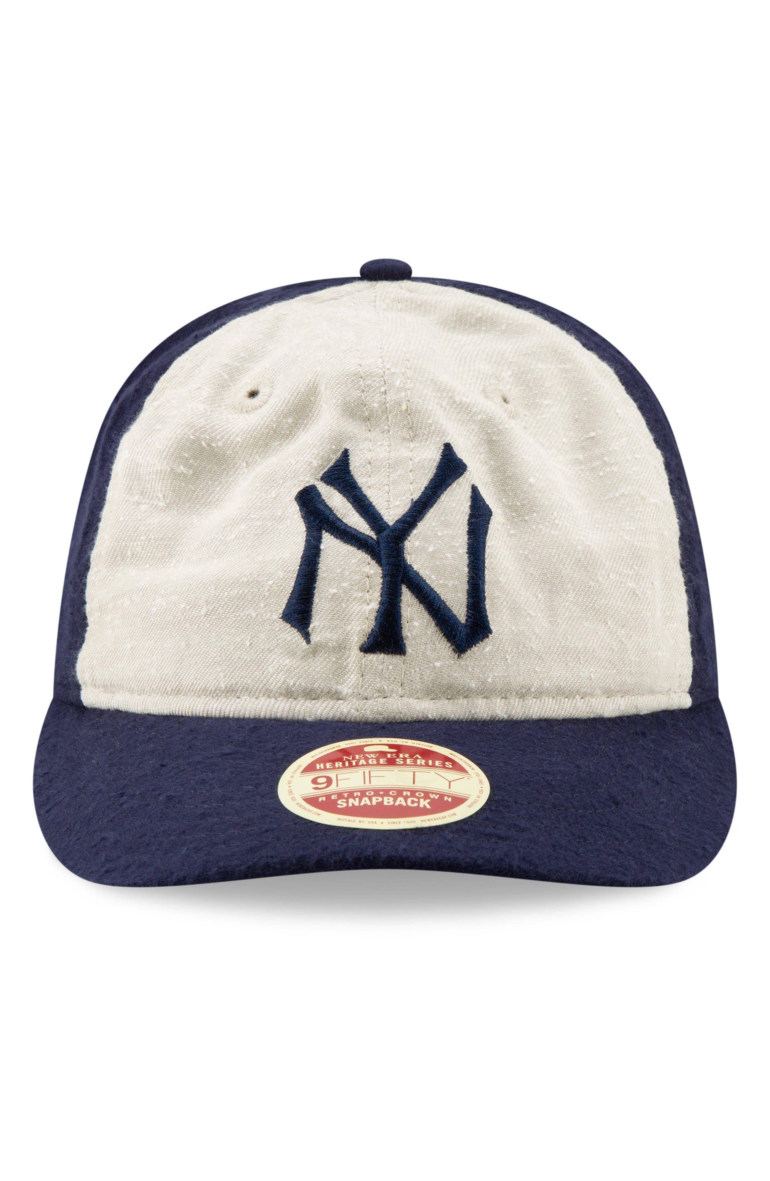 NEW ERA CAP,                             Vintage Slub Cap,                             Alternate thumbnail 2, color,                             YANKEES