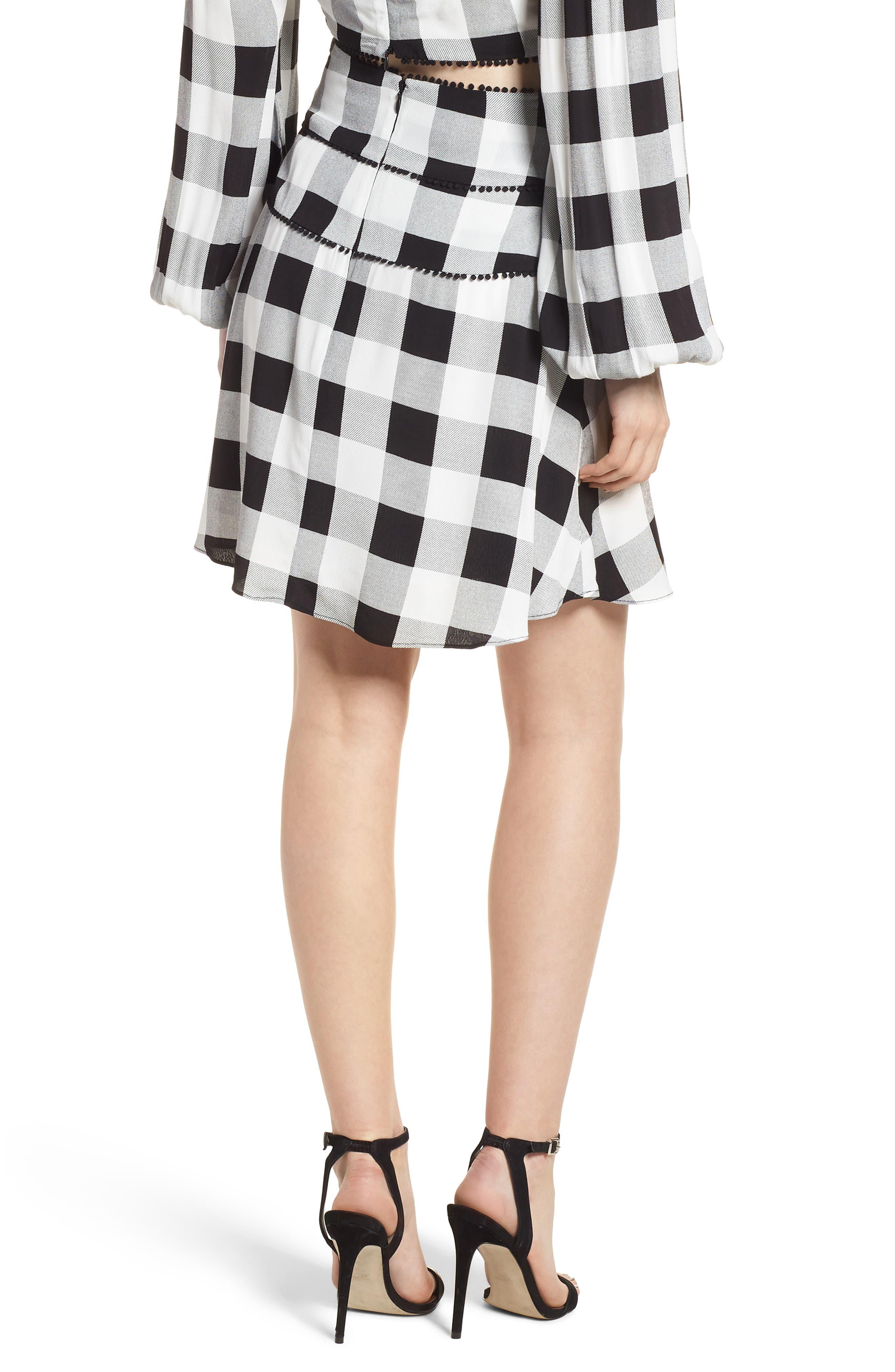 Bell High Waist Miniskirt,                             Alternate thumbnail 2, color,                             002