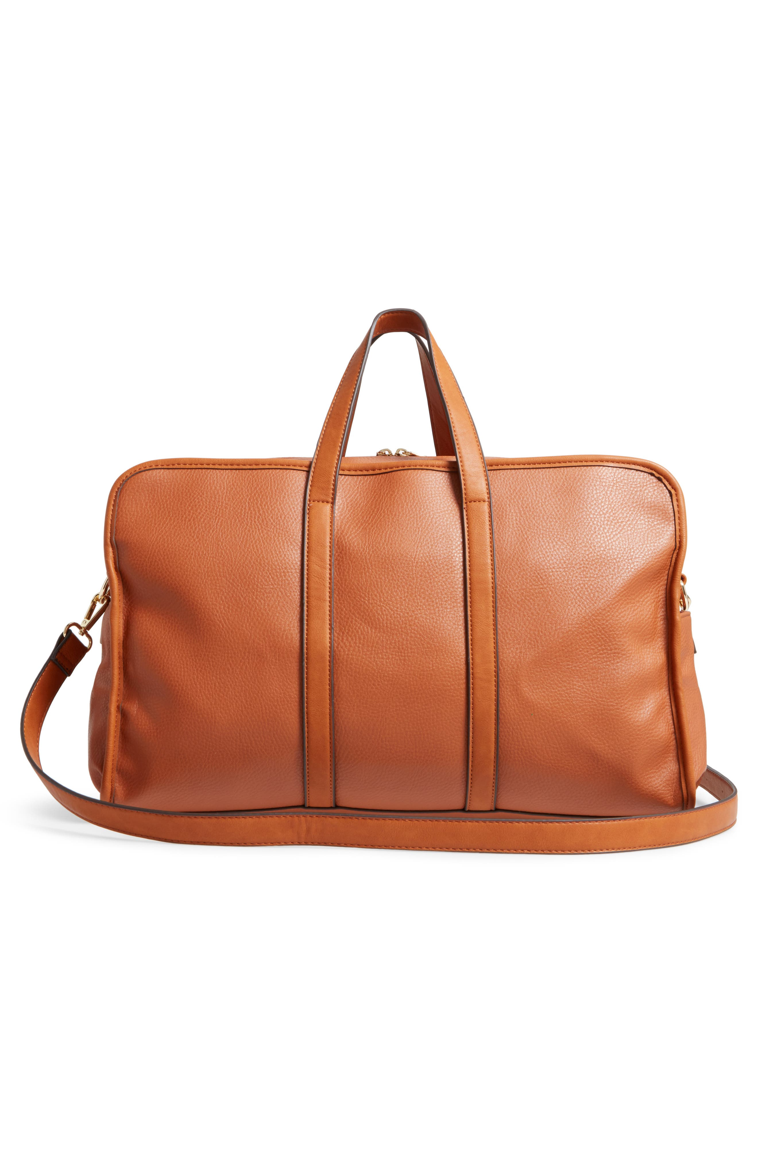 Doxin Faux Leather Duffel Bag,                             Alternate thumbnail 6, color,