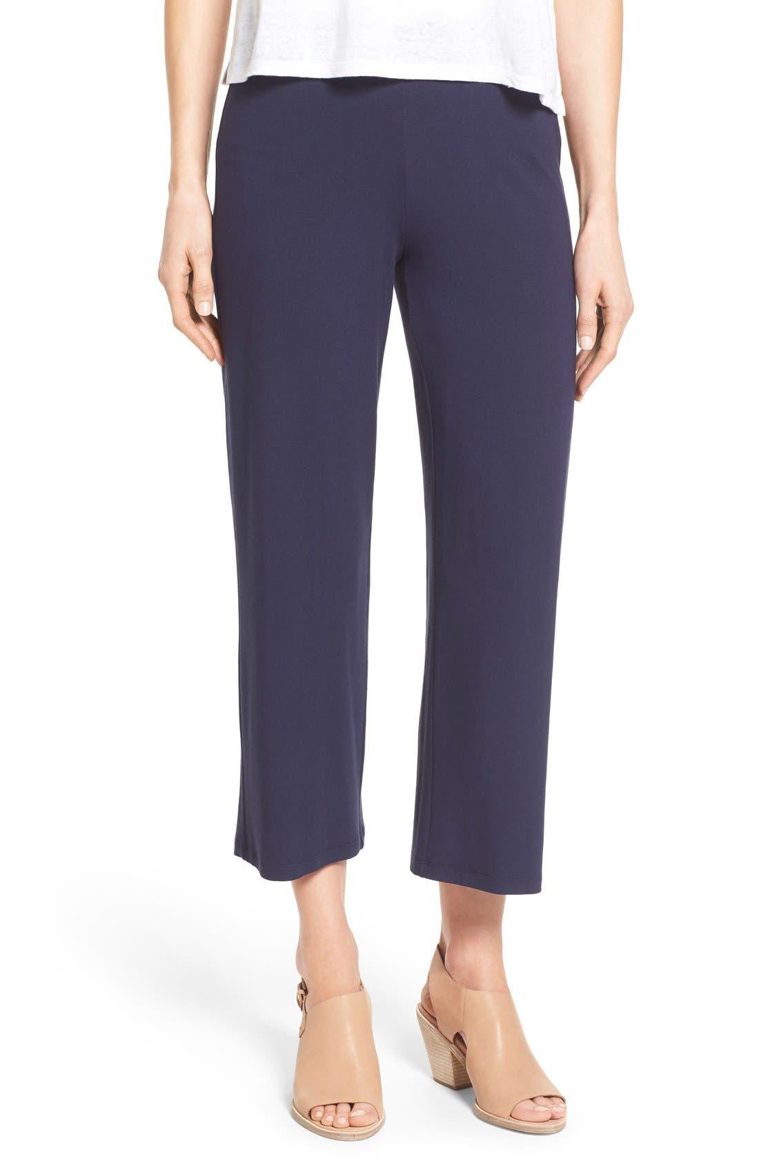 Crop Jersey Pants,                             Main thumbnail 2, color,