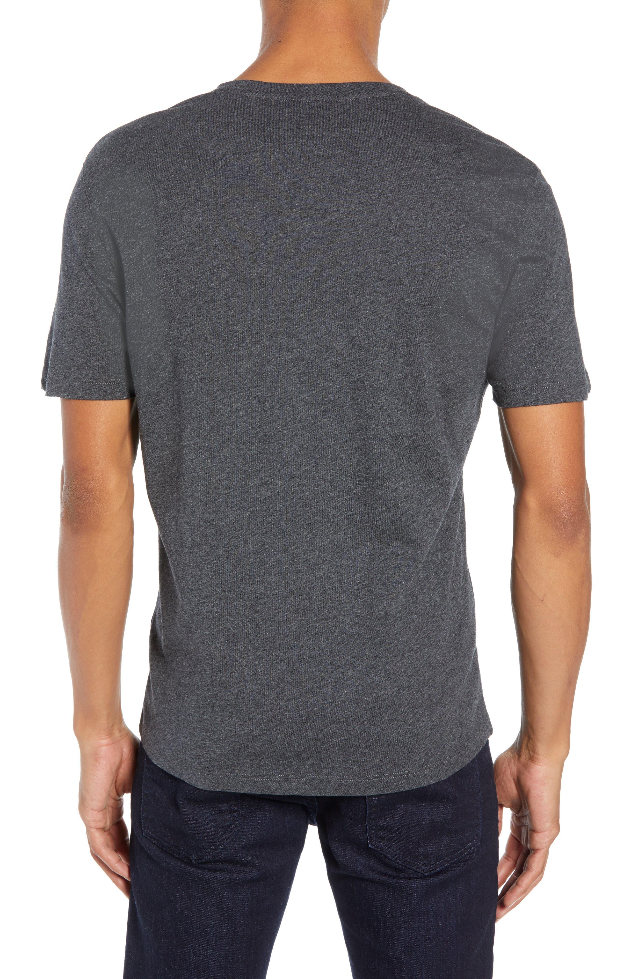 Mercer V-Neck T-Shirt,                             Alternate thumbnail 2, color,                             DARK HEATHER CHARCOAL