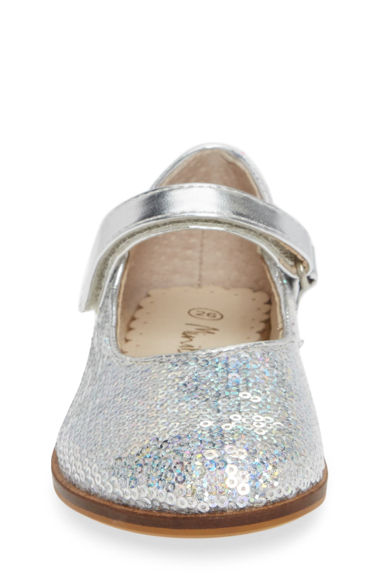 Sequin Mary Jane,                             Alternate thumbnail 4, color,                             IRIDESCENT SILVER