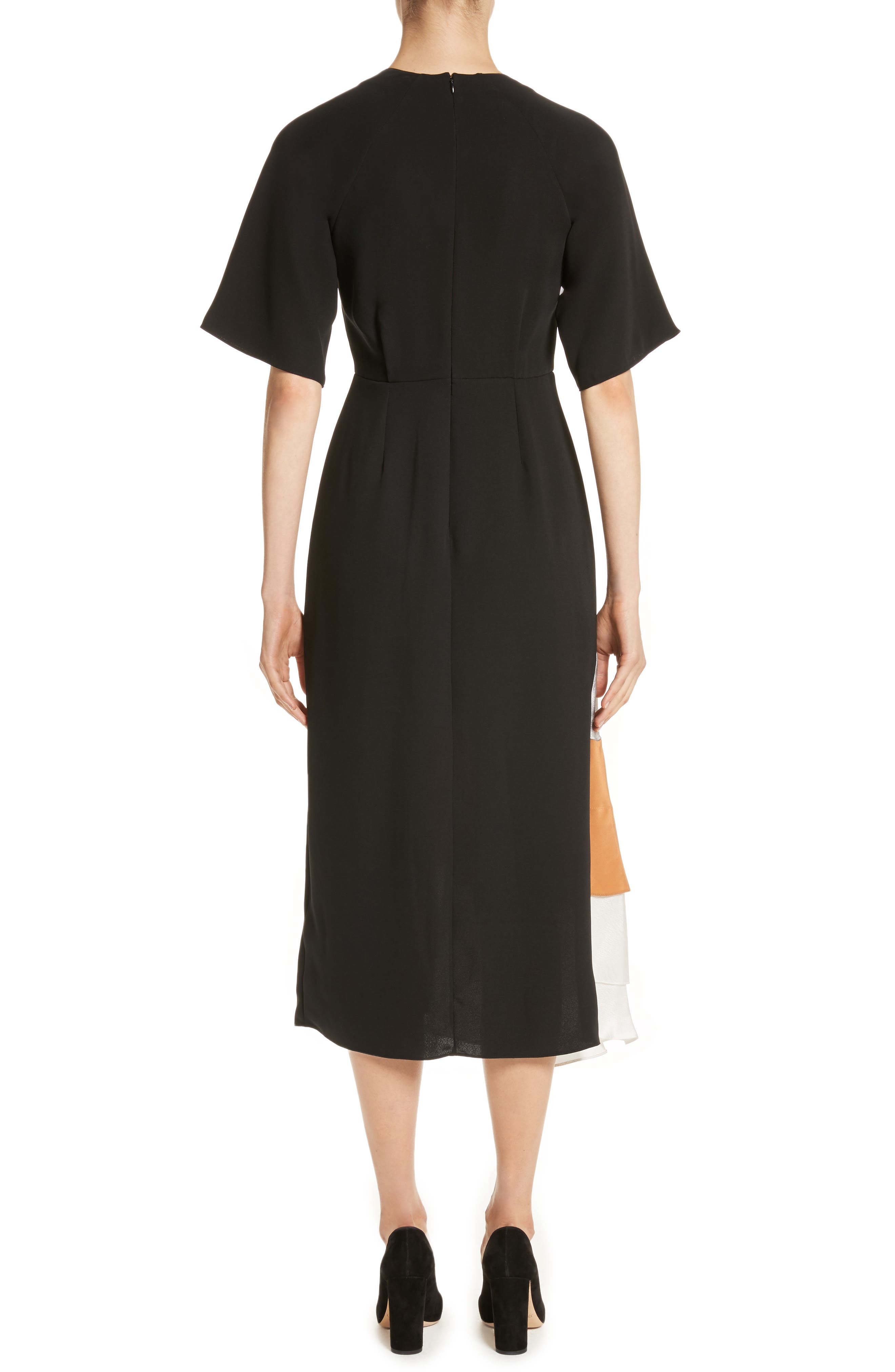 Rauma Silk Dress,                             Alternate thumbnail 2, color,                             001