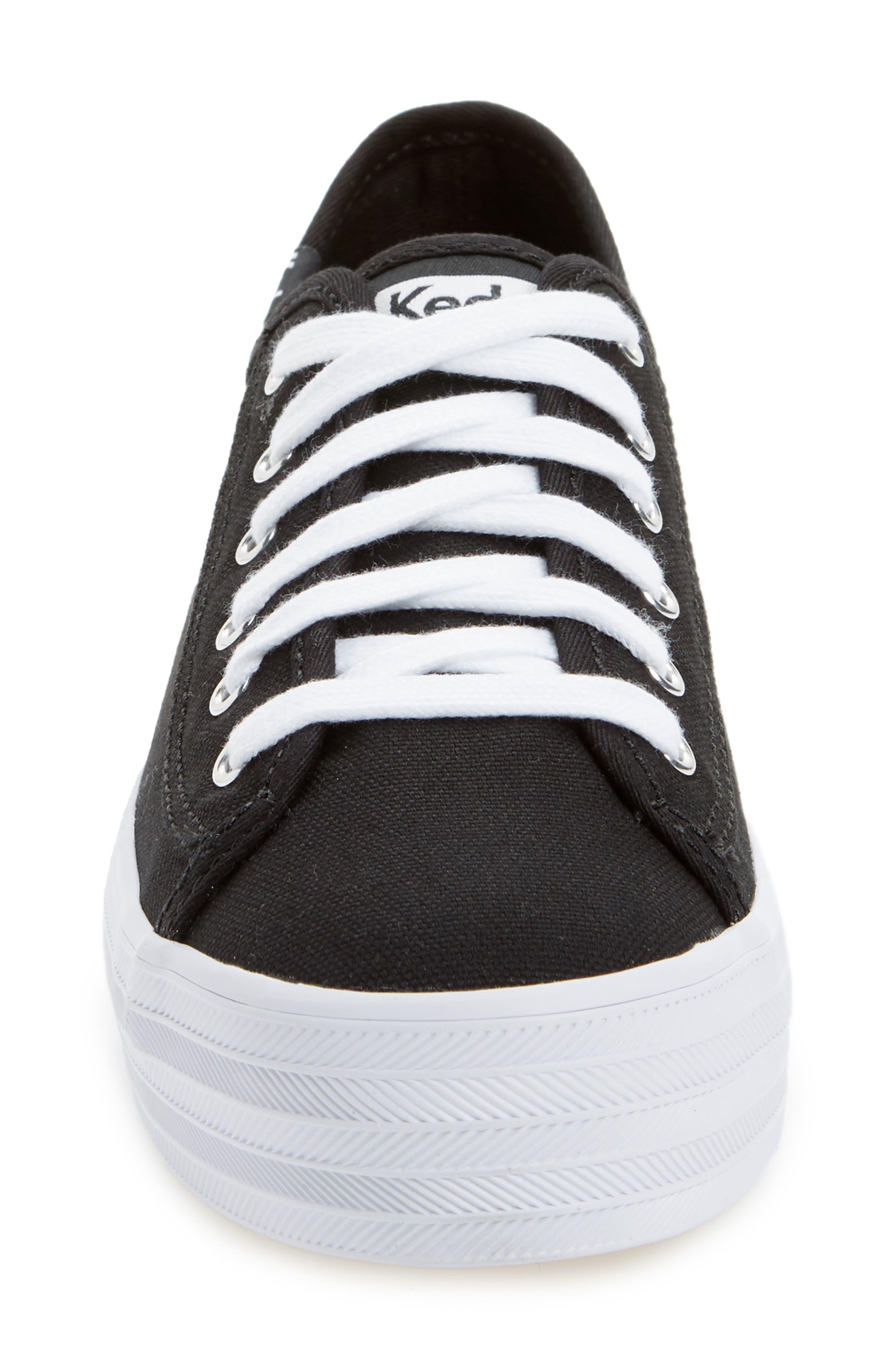 Triple Kick Platform Sneaker,                             Alternate thumbnail 4, color,                             002