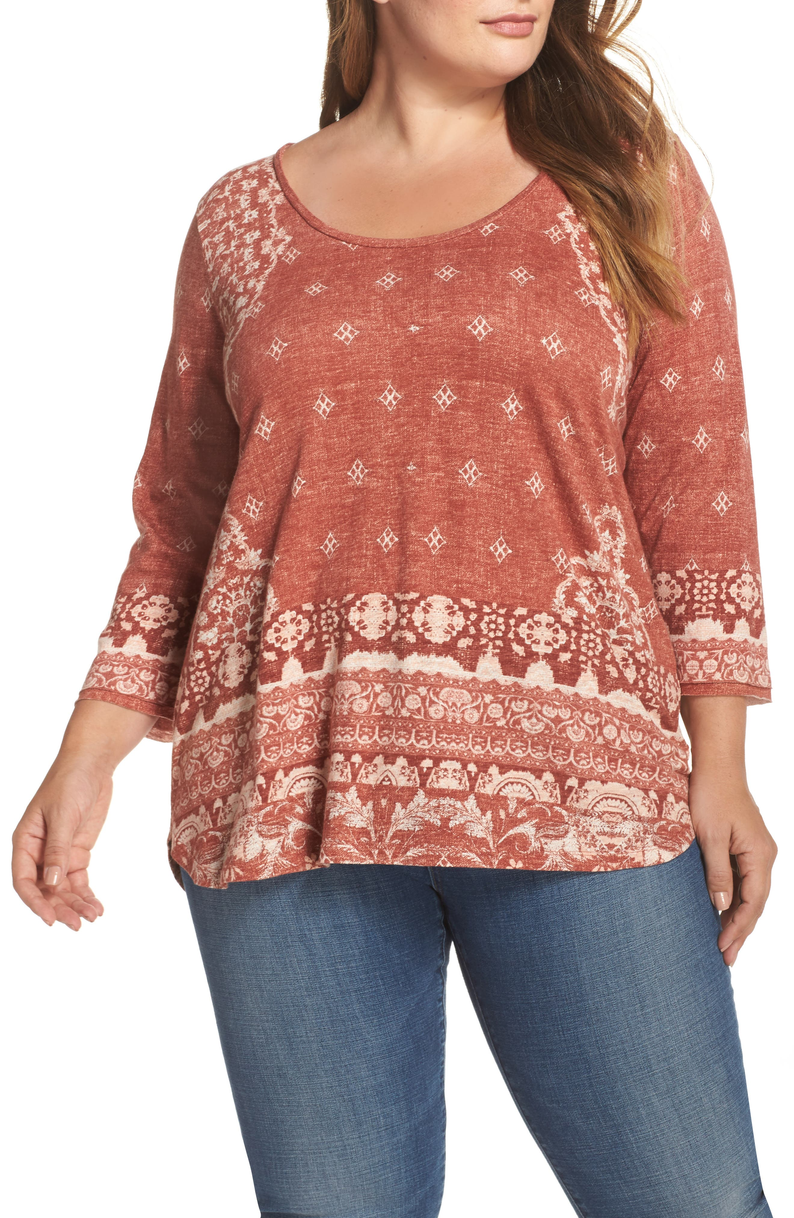 Rug Print Tee,                             Main thumbnail 1, color,                             610