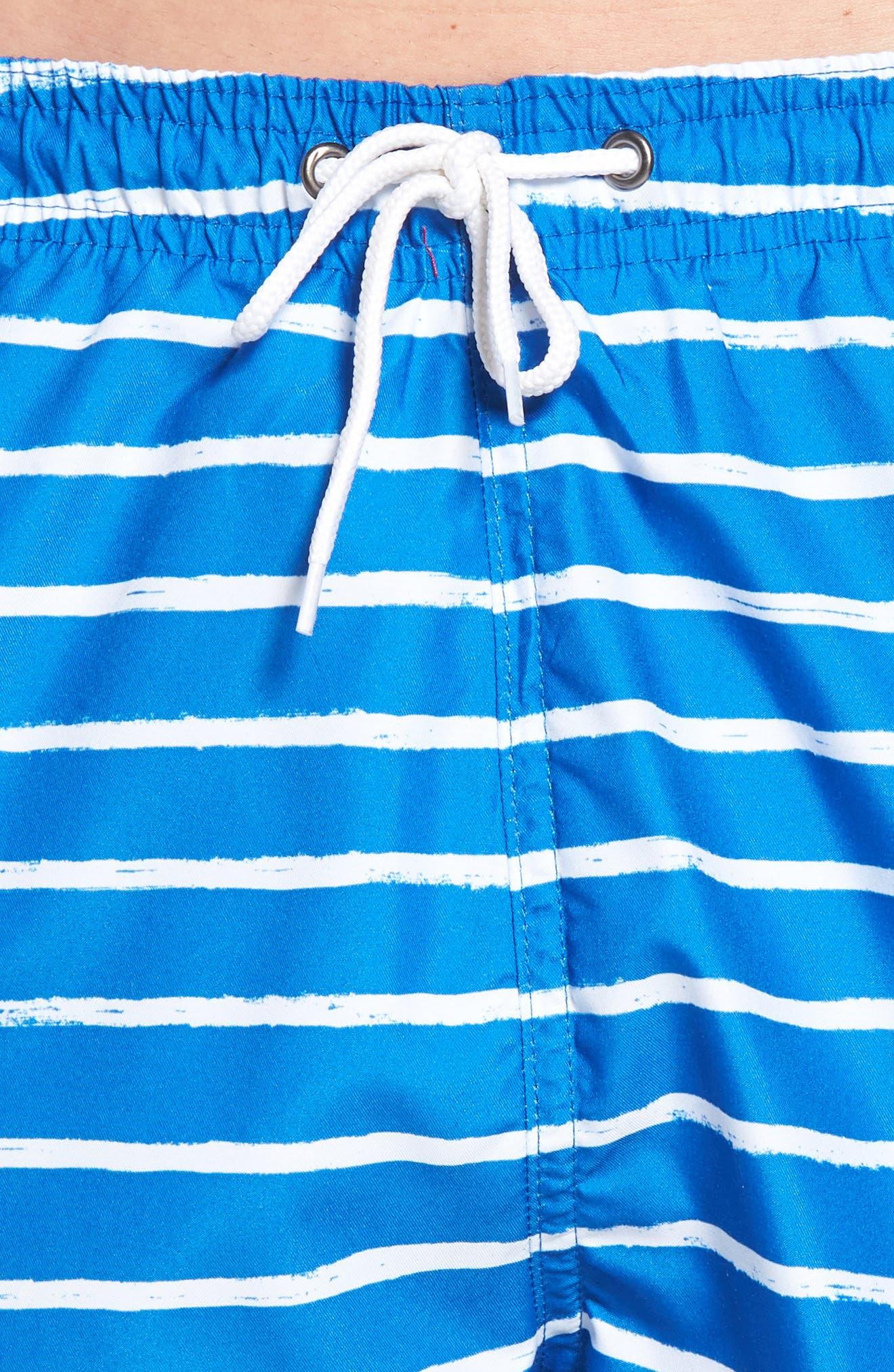 San O Stripe Swim Trunks,                             Alternate thumbnail 4, color,                             416