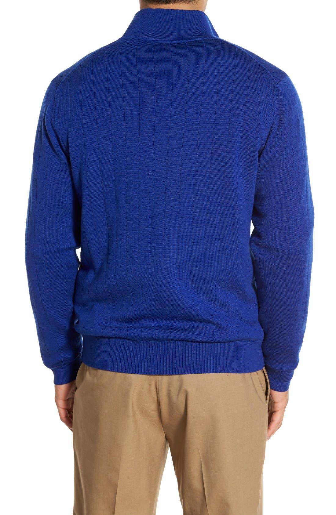 Windproof Merino Wool Quarter Zip Sweater,                             Alternate thumbnail 2, color,                             401