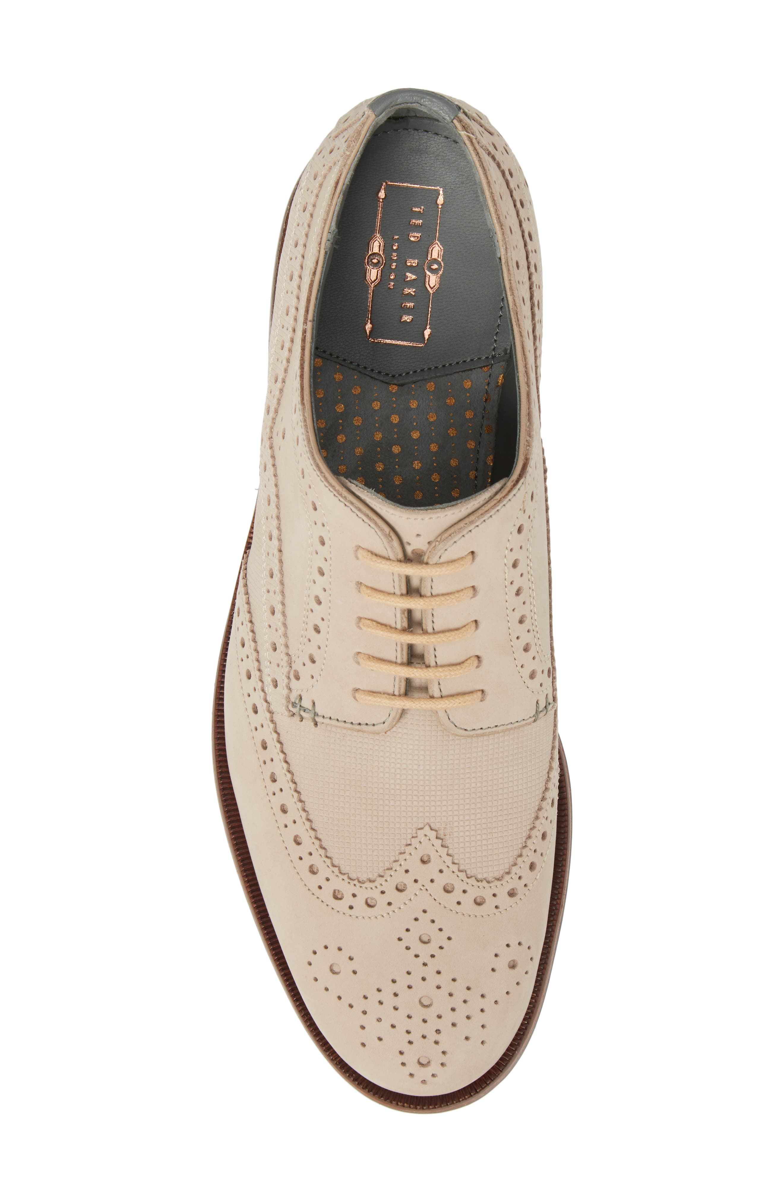 Senapen Wingtip Derby,                             Alternate thumbnail 5, color,                             LIGHT TAN SUEDE