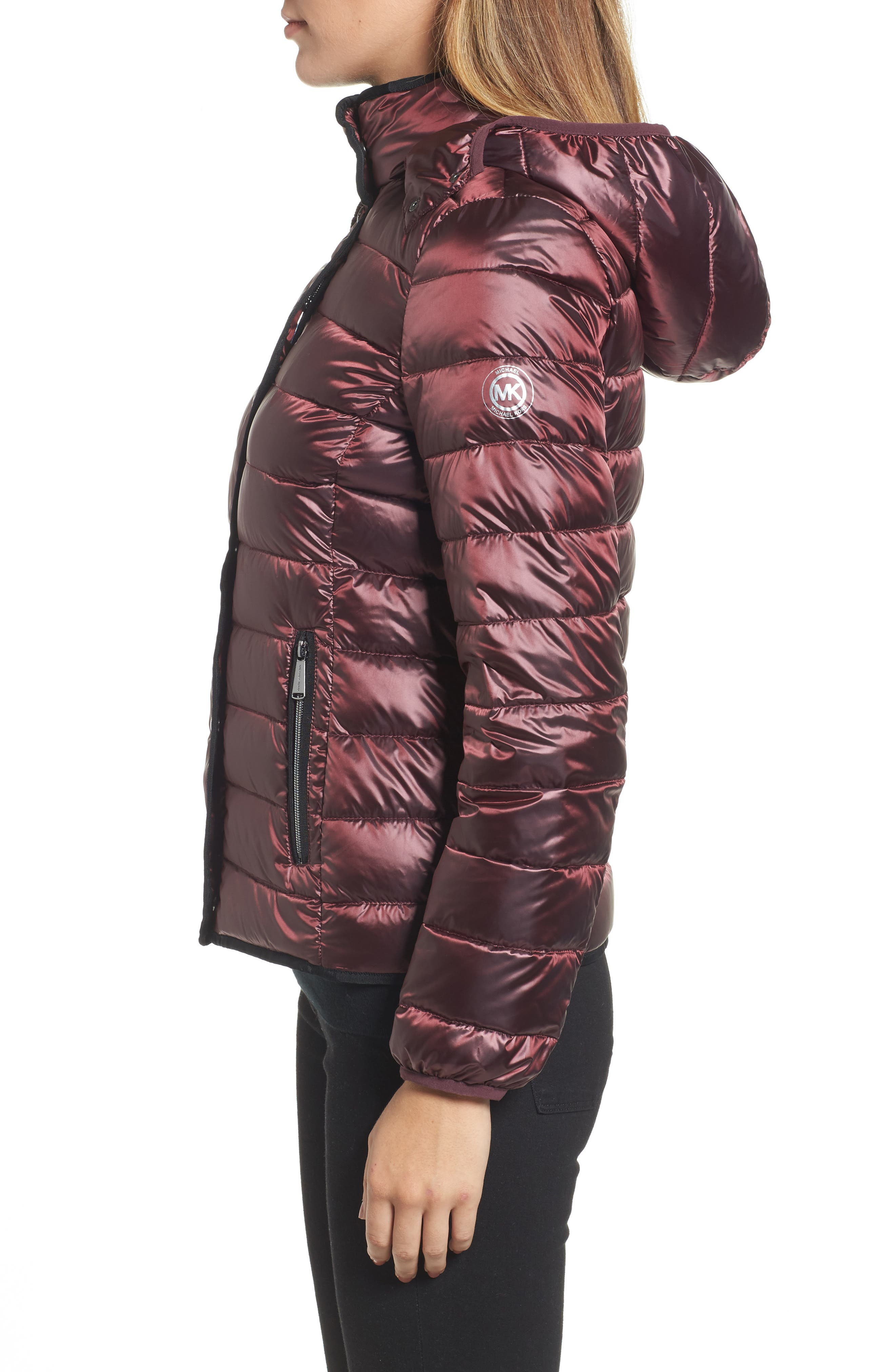 Packable Insulated Jacket with Removable Hood,                             Alternate thumbnail 12, color,