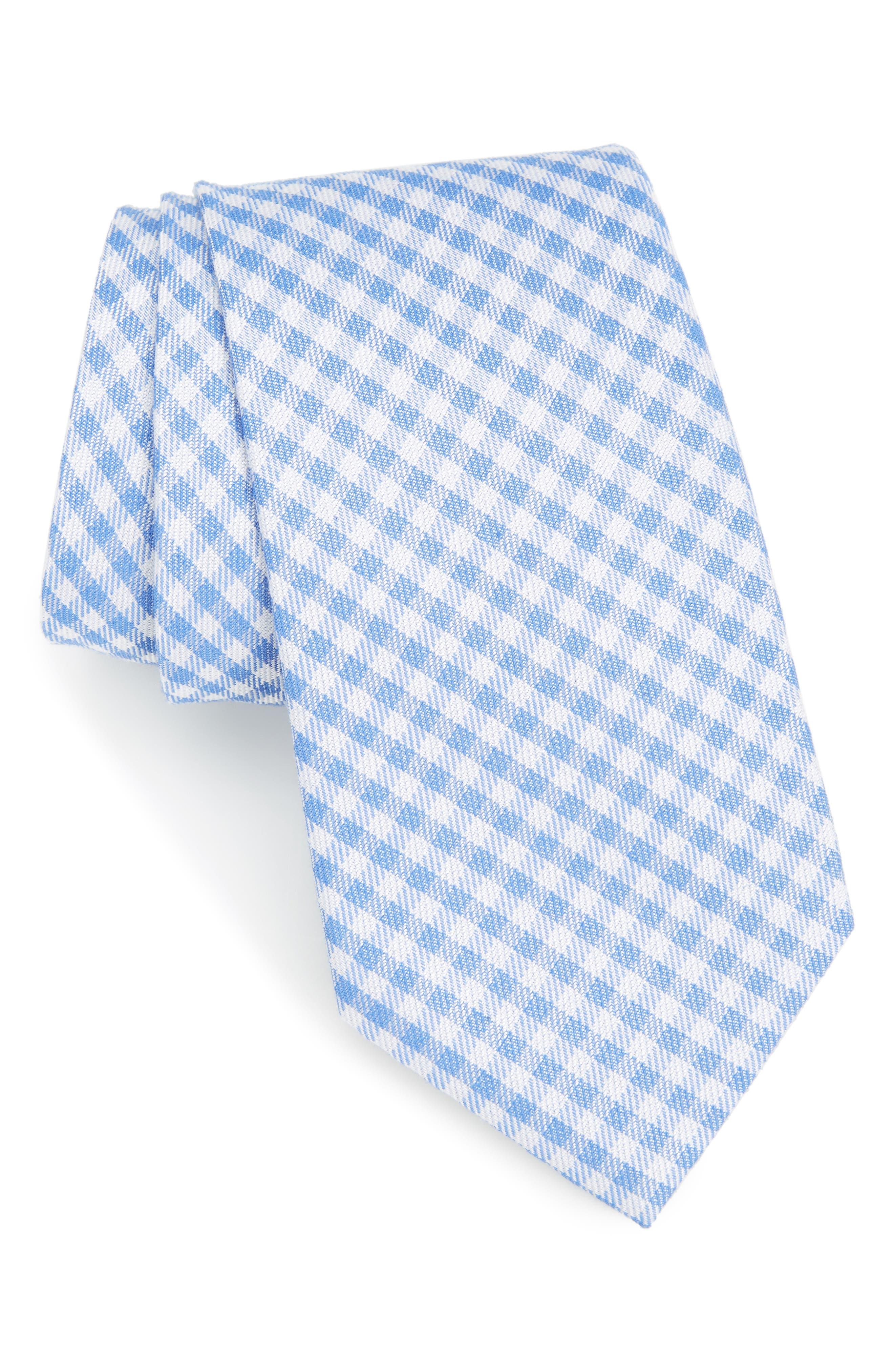 Check Cotton & Silk Tie,                         Main,                         color, 400