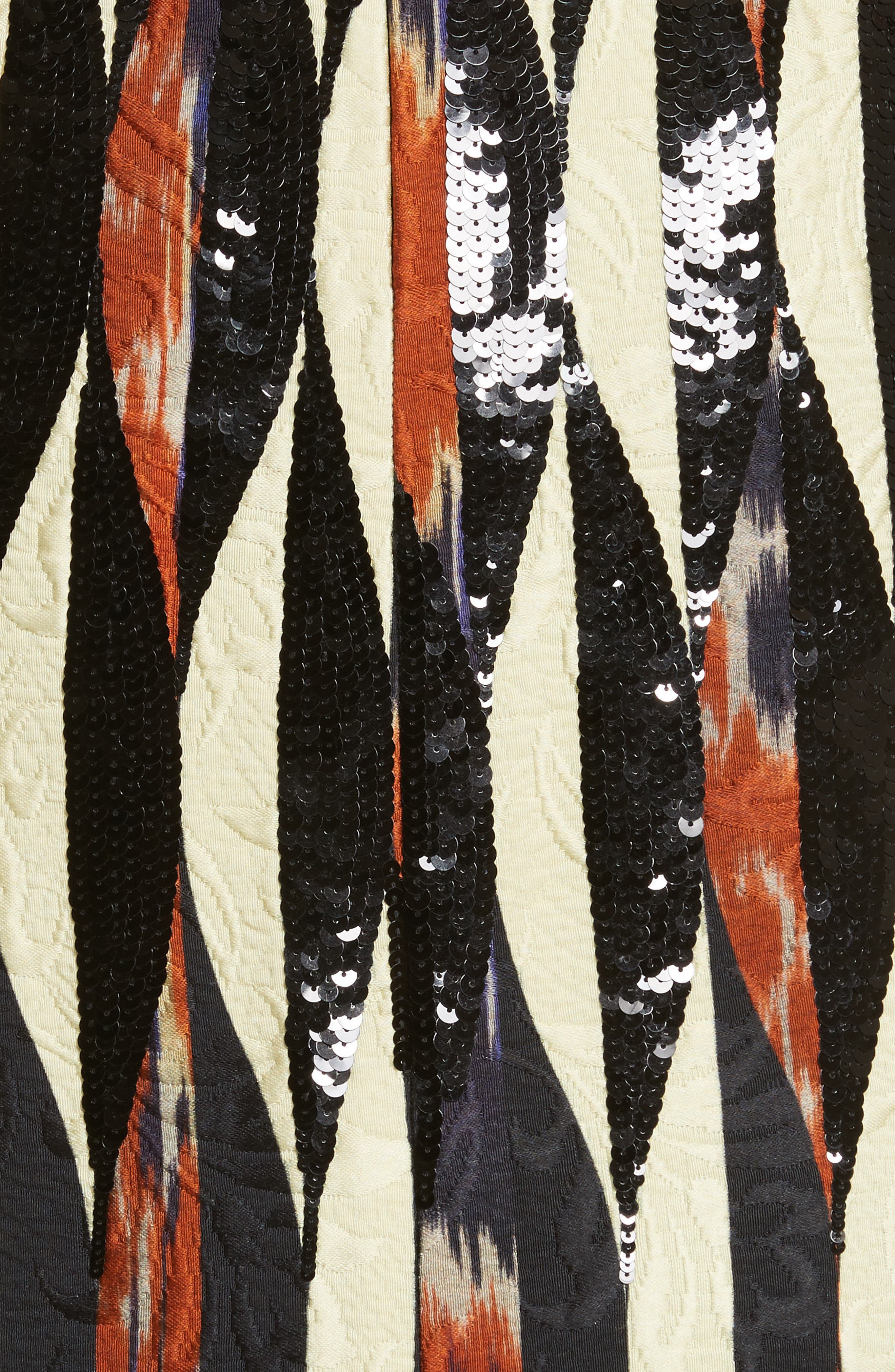 Embroidered Ikat Midi Skirt,                             Alternate thumbnail 5, color,                             800