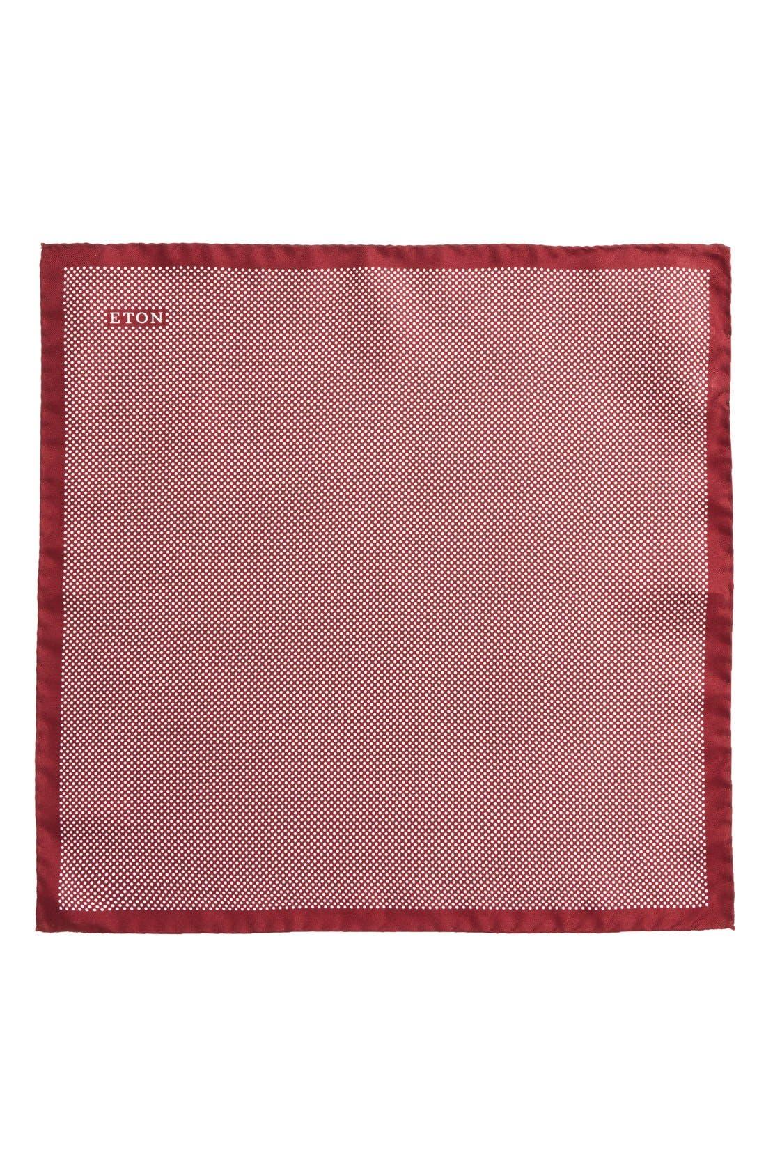 Dot Silk Pocket Square,                             Alternate thumbnail 21, color,