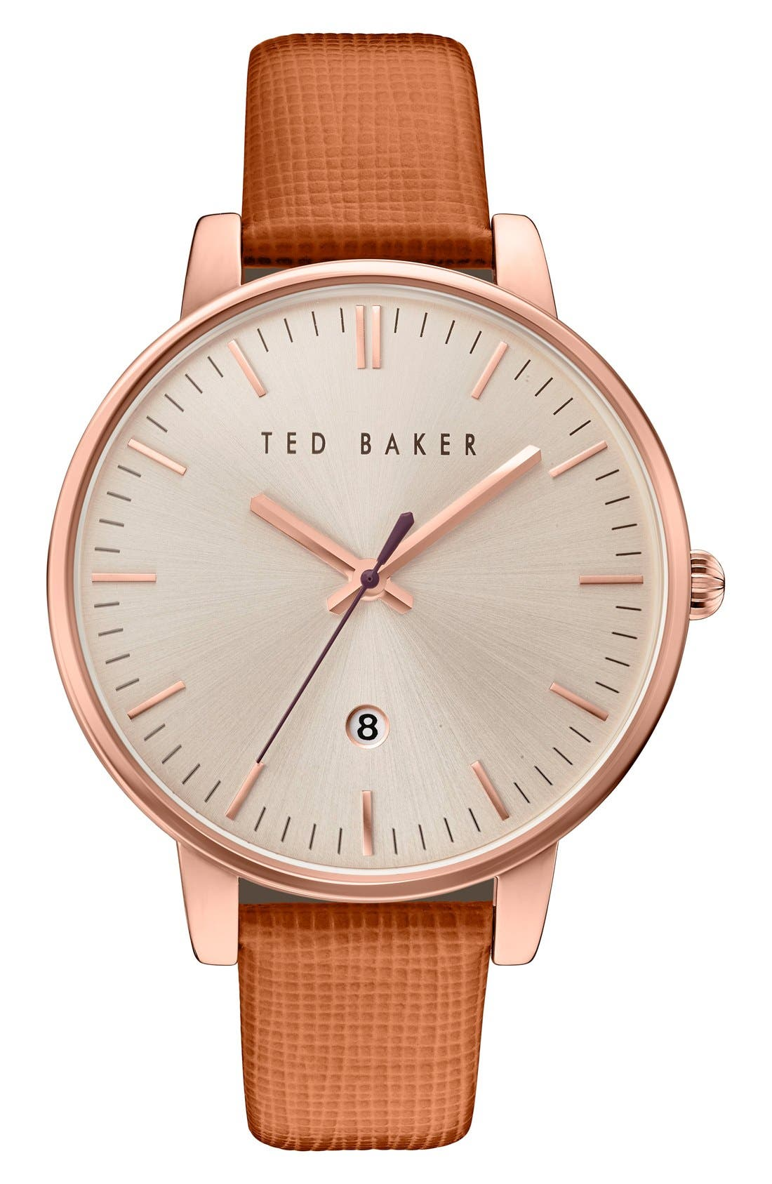 Leather Strap Watch, 40mm,                             Main thumbnail 3, color,