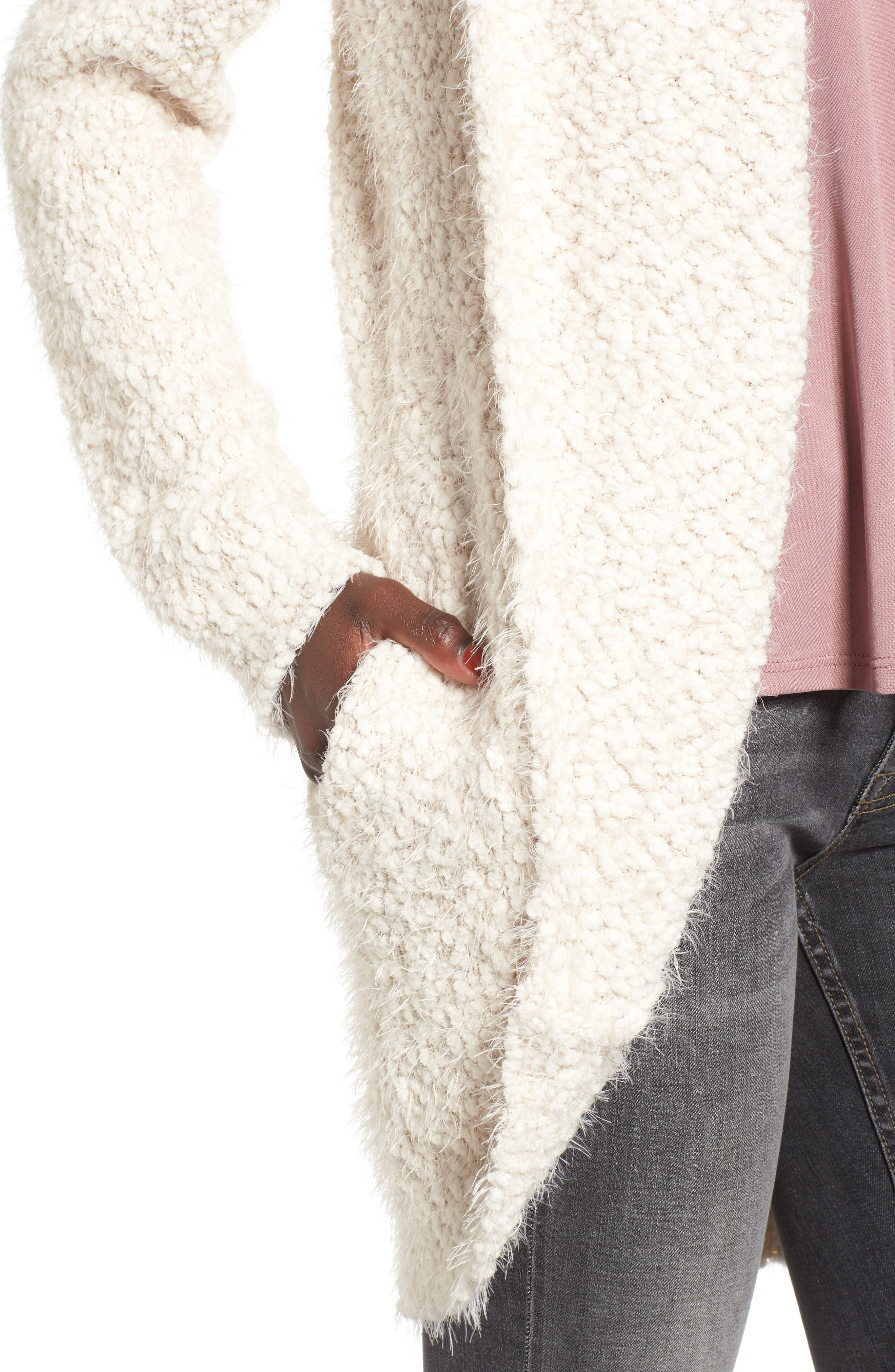 Fluffy Cocoon Cardigan,                             Alternate thumbnail 4, color,