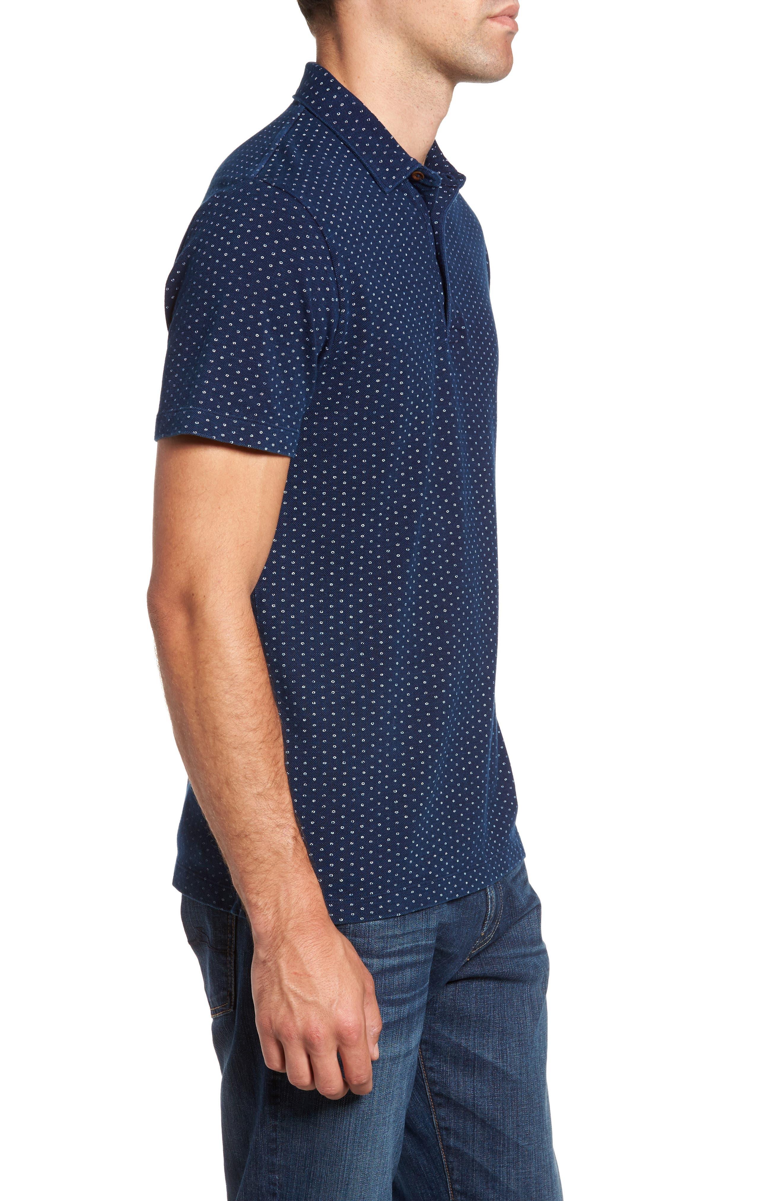 Dojo Dot Regular Fit Cotton Polo,                             Alternate thumbnail 3, color,