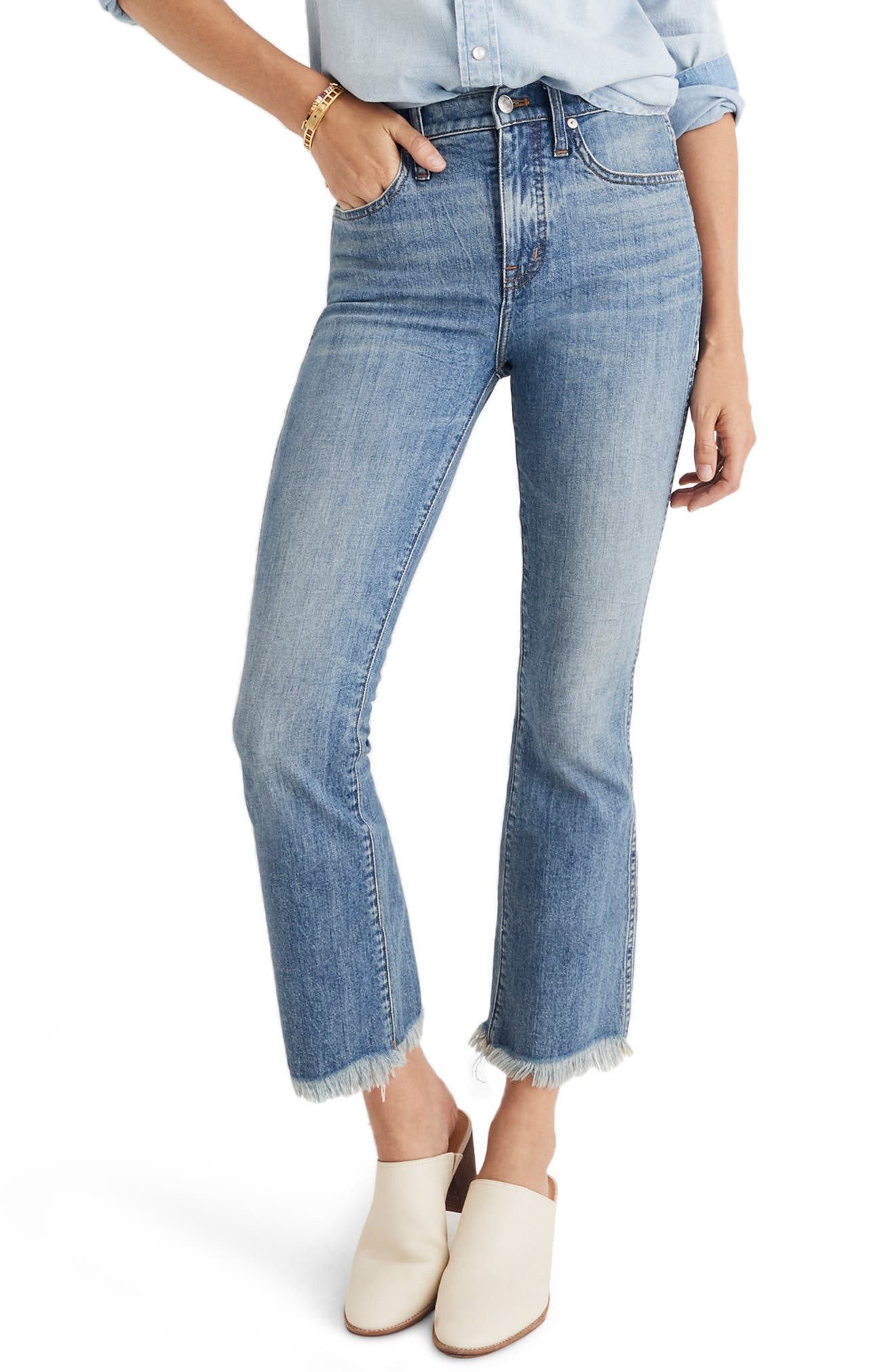 Cali Demi Boot Jeans,                         Main,                         color, HENEY