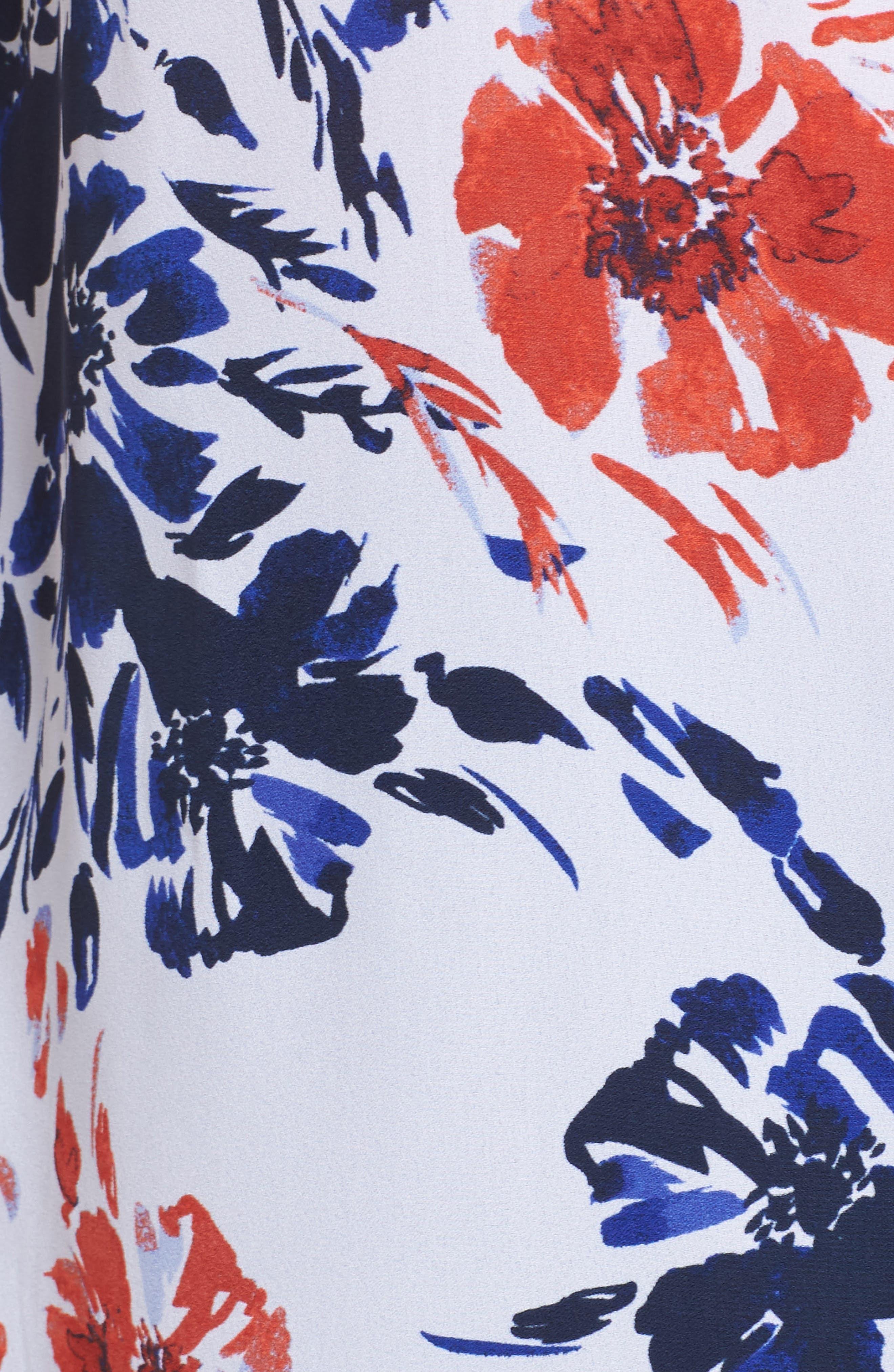 Gigi Breezy Floral Top,                             Alternate thumbnail 6, color,