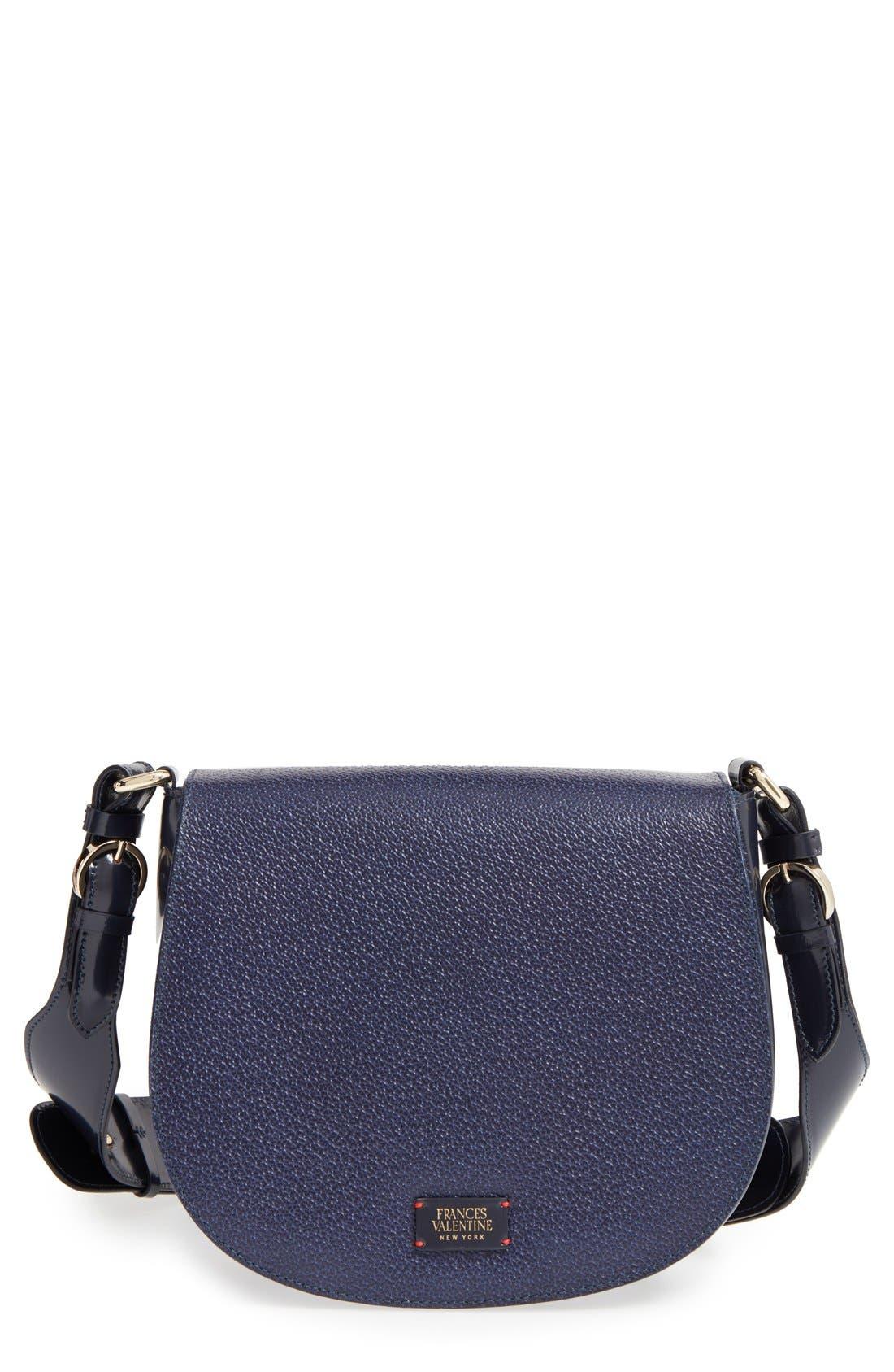 'Small Ellen' Leather Shoulder Bag,                             Main thumbnail 1, color,                             400