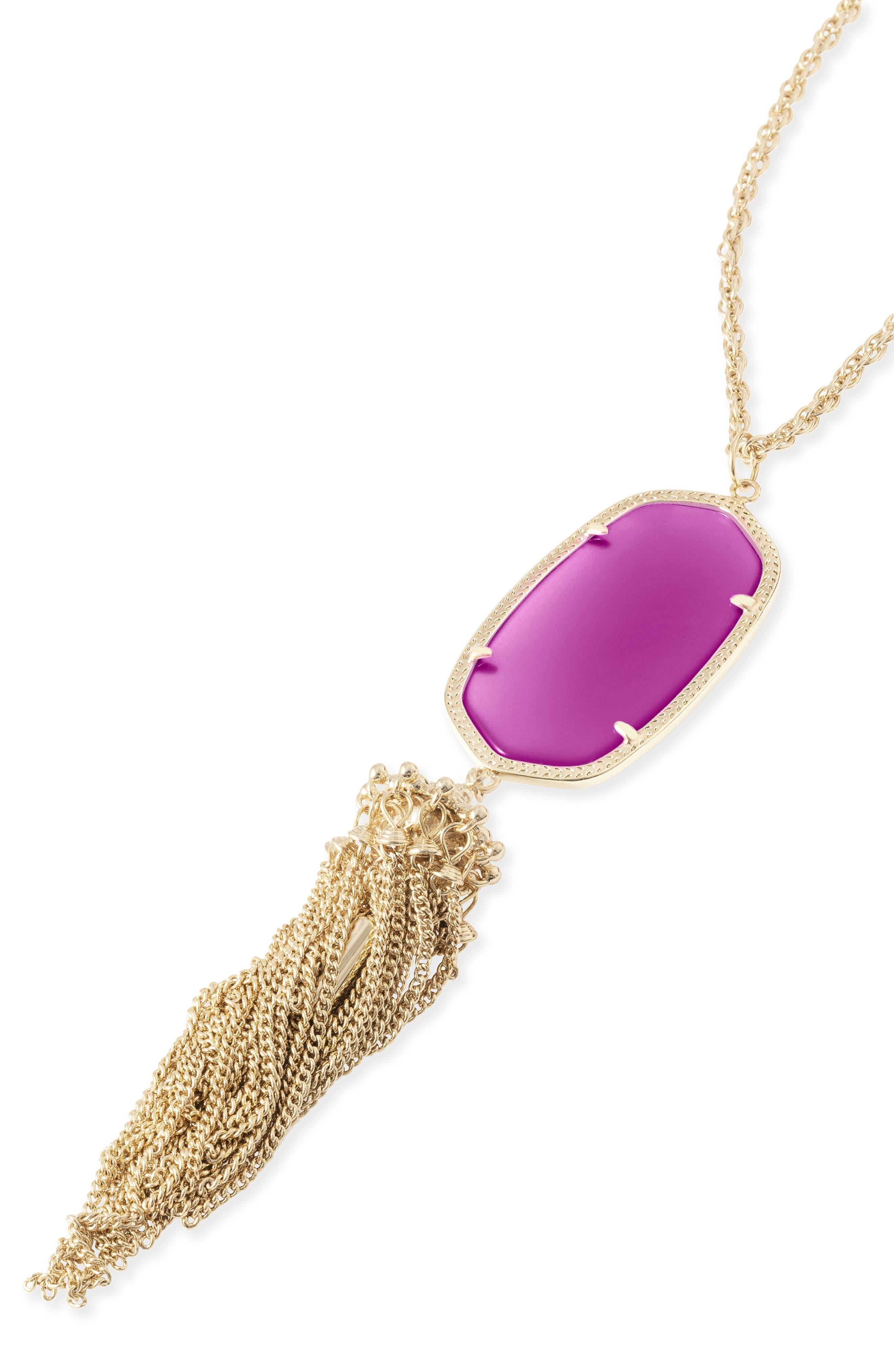 Rayne Stone Tassel Pendant Necklace,                             Alternate thumbnail 248, color,